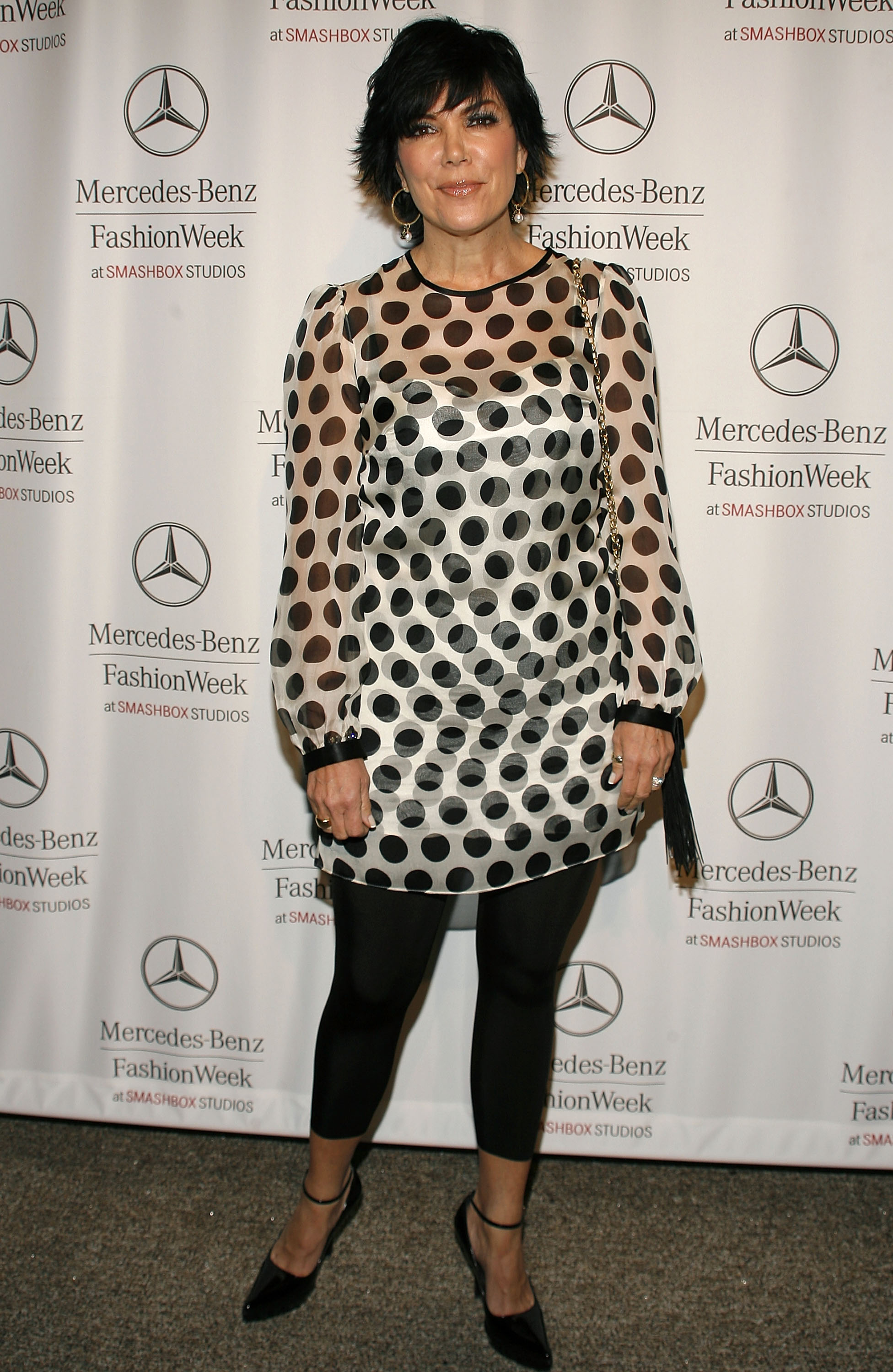 Kris Jenner attends Mercedes Benz Fashion Week held at Smashbox Studios on March 21, 2007 in Culver City, California. (Photo by Mark Davis/Getty Images)