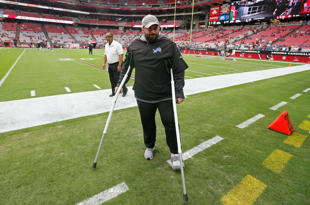 GLENDALE, ARIZONA - SEPTEMBER 08: Head coach Matt Patricia of the Detroit Lions walks on to the field prior to the NFL football game against the Arizona Cardinals at State Farm Stadium on September 08, 2019 in Glendale, Arizona. (Photo by Ralph Freso/Getty Images)