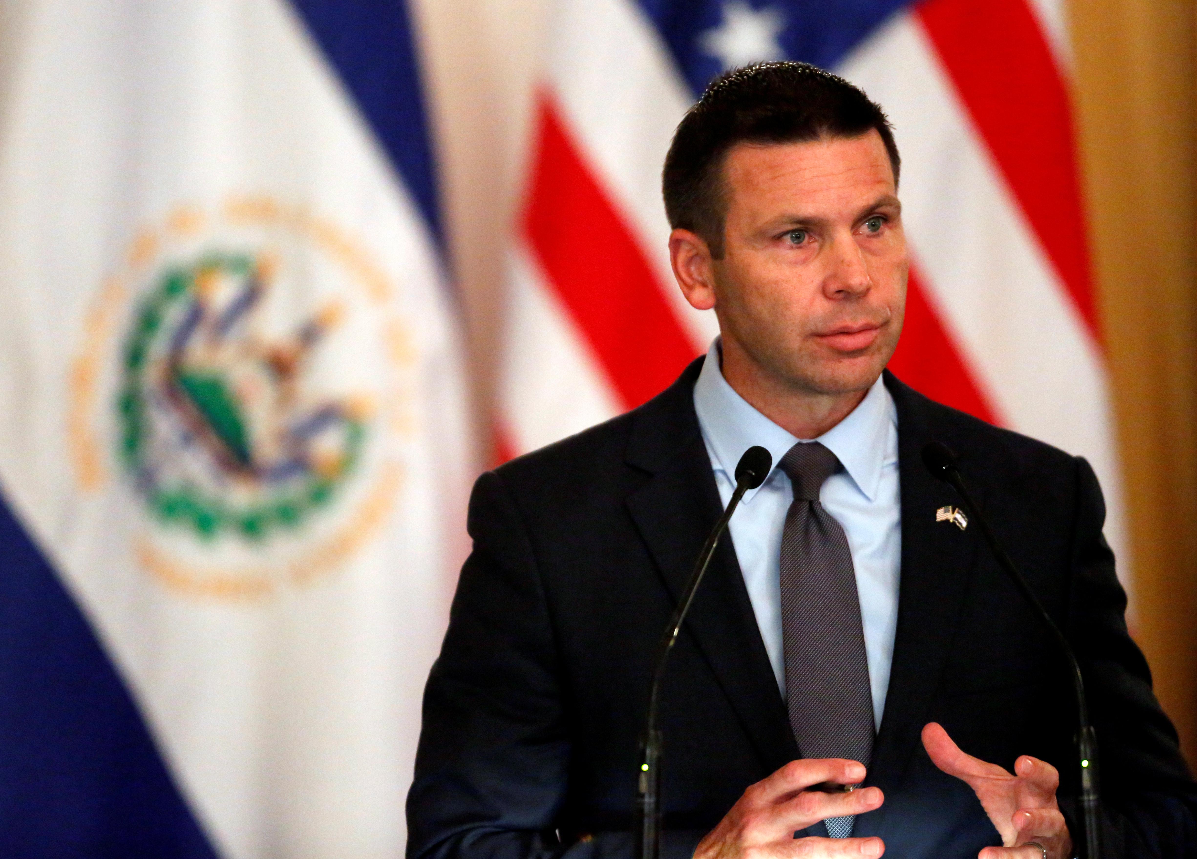 FILE PHOTO: U.S. DHS acting Secretary McAleenan visits El Salvador in San Salvador