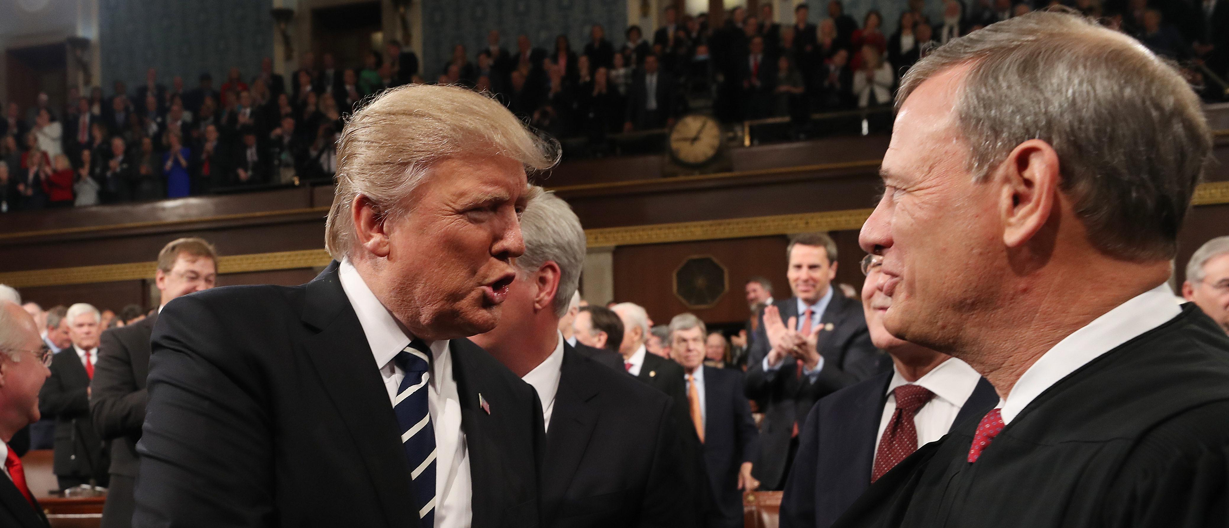 Barrett, Judicial Panel Back Chief's Rebuke Of Trump For 'Obama Judges' Insult