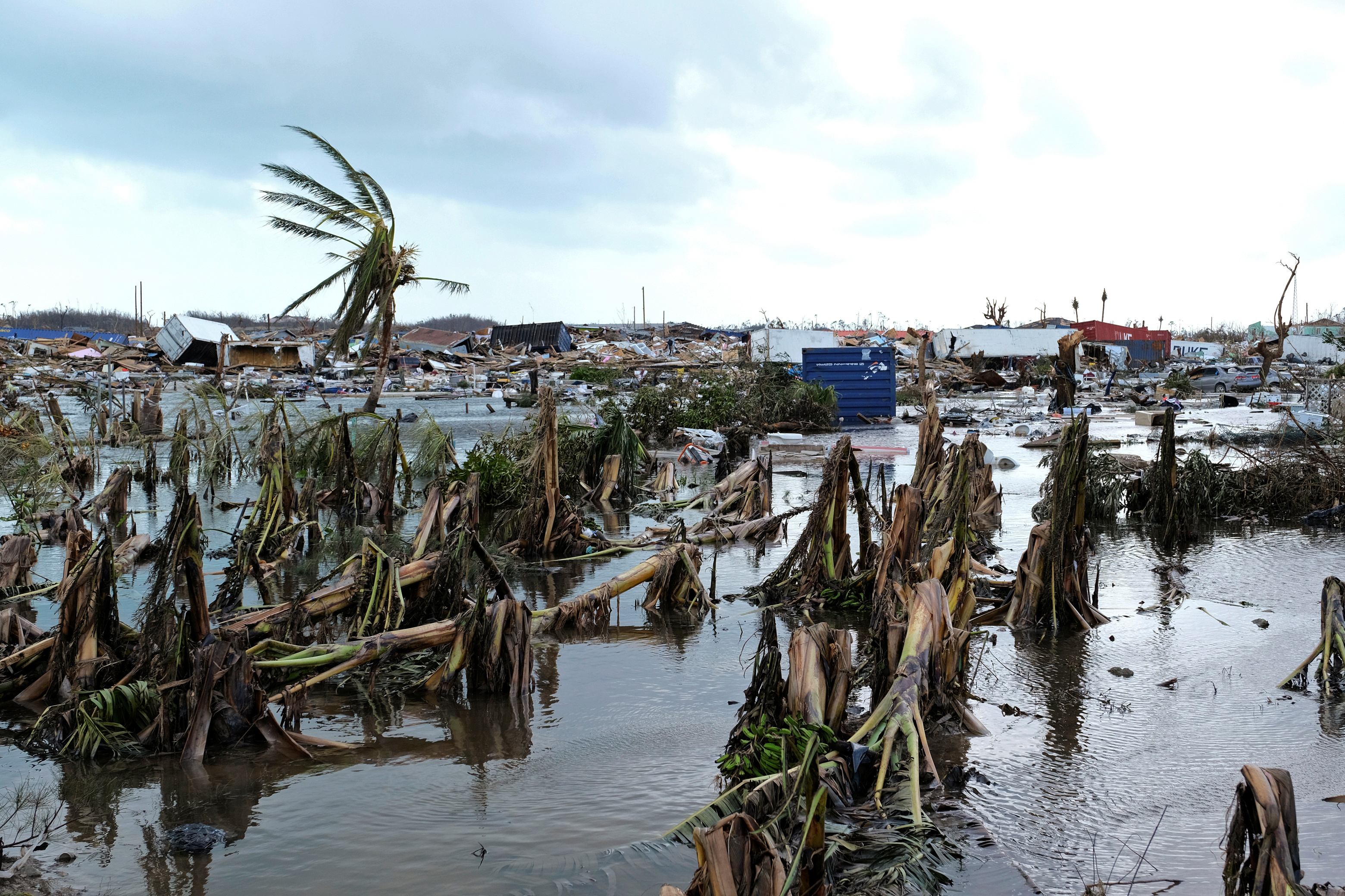Damage in the aftermath of Hurricane Dorian on the Great Abaco island town of Marsh Harbour, Bahamas, September 4, 2019. (REUTERS/Dante Carrer)