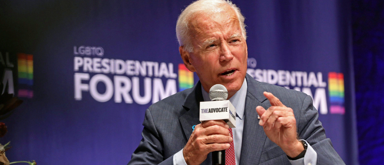 Democratic presidential candidate and former Vice President Joe Biden speaks at the One Iowa and GLAAD LGBTQ Presidential Forum in Cedar Rapids, Iowa, Sept. 20, 2019. REUTERS/Scott Morgan