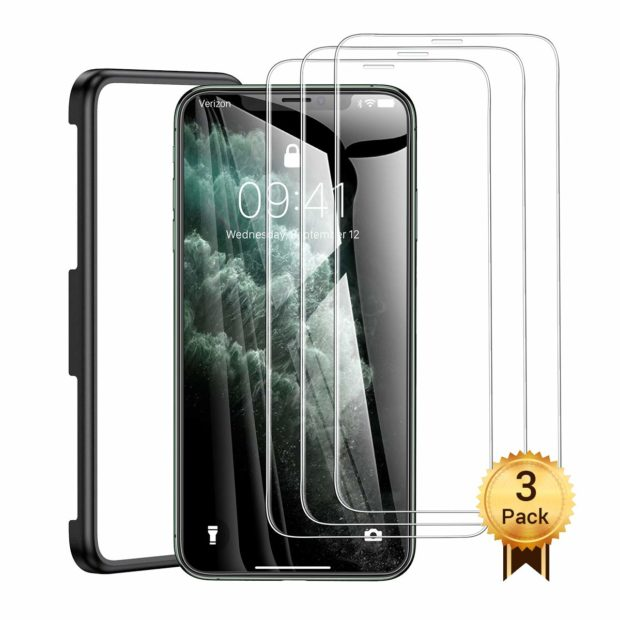 These screen protectors offer tempered glass screen protection that can help protect your new phone from scratches and damage (Photo via Amazon)