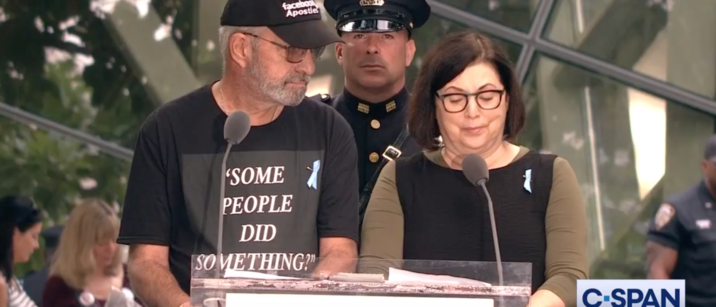 Son Of 9/11 Victim Reads Names Of Those Killed Wearing 'Some People Did Something' Shirt