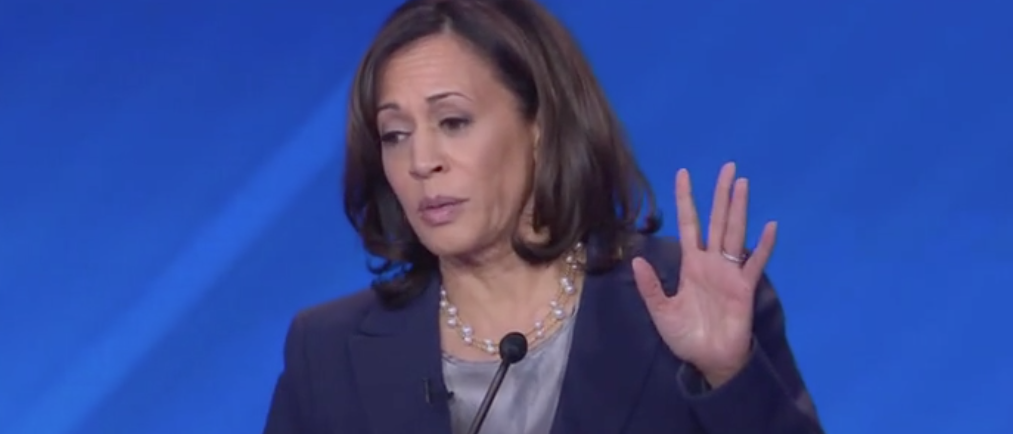 California Sen. Kamala Harris appears in the third Democratic primary debate on ABC. Screen Shot/ABC News