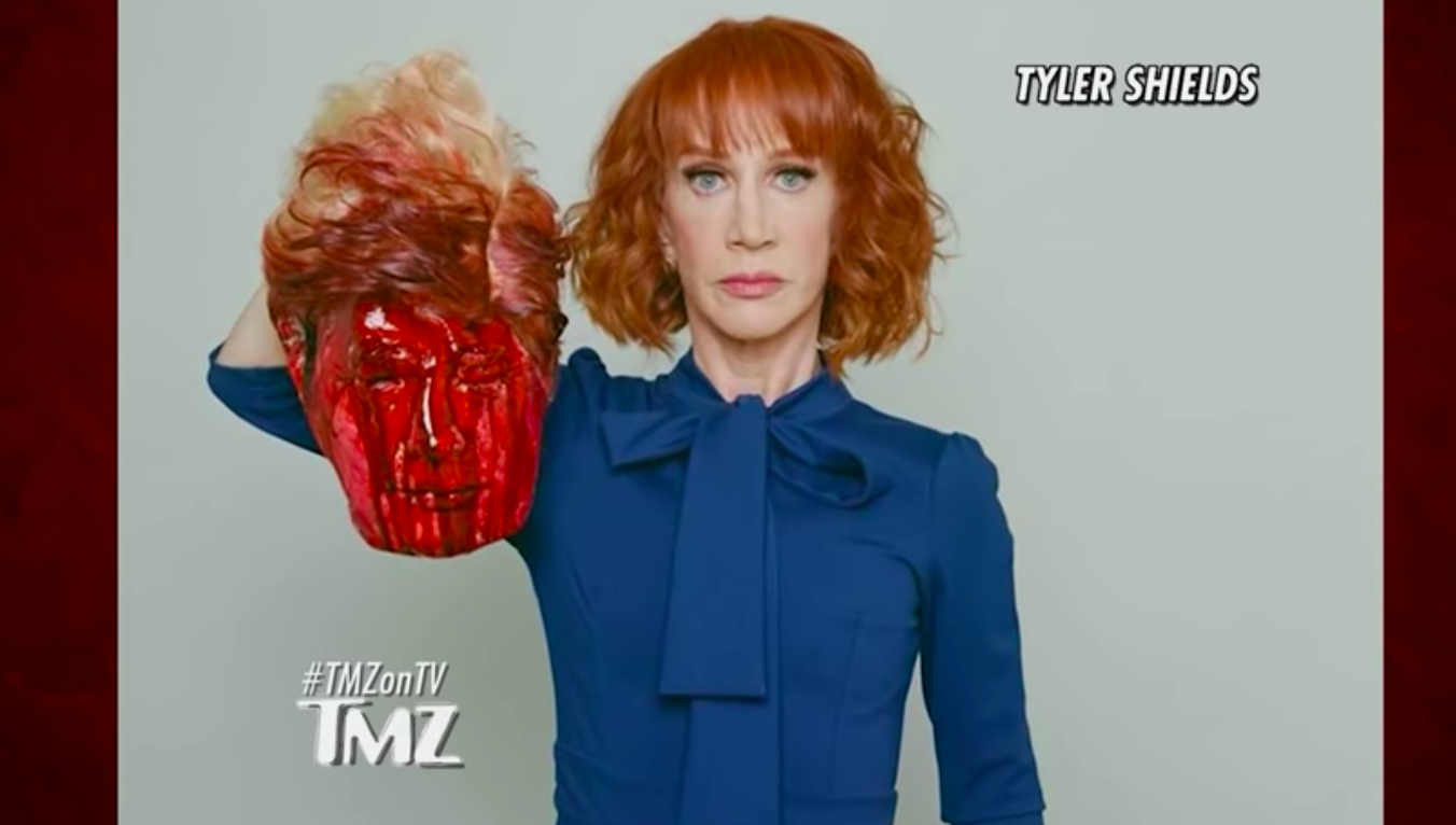 Kathy Griffin's controversial photograph/TMZ YouTube screengrab