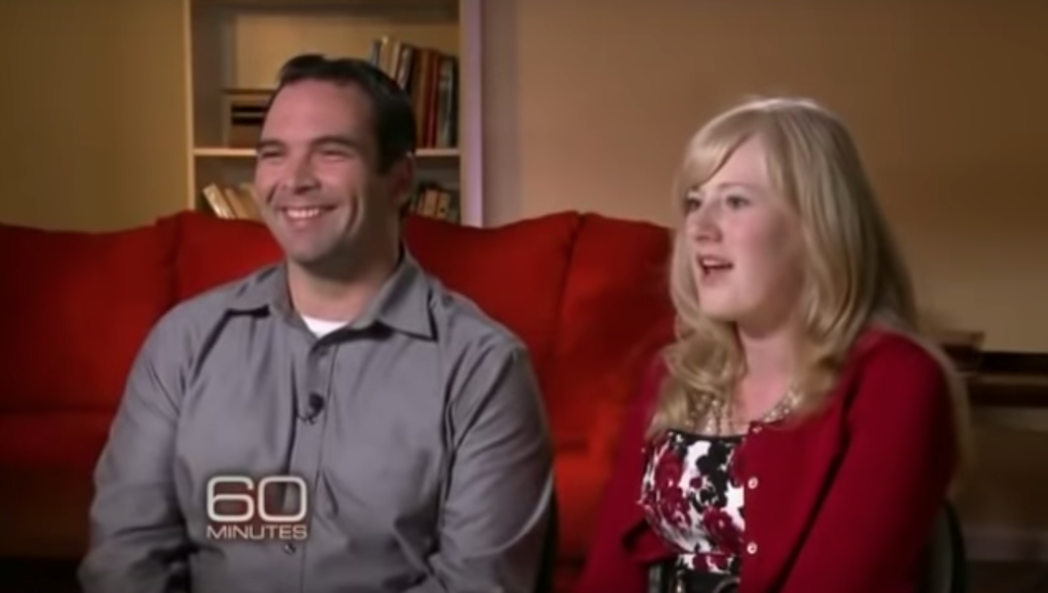 Kristine and Michael Barnett are shown here during their appearance on 60 Minutes (YouTube/60 Minutes)