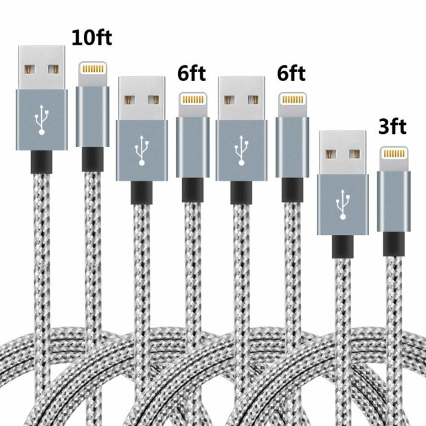 Four charging cables for one absurd price!!!(Photo via Amazon)