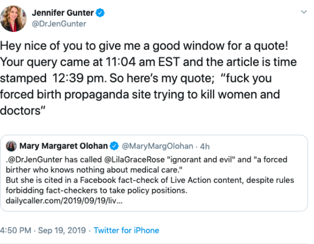 Dr Jennifer Gunter/Twitter screenshot