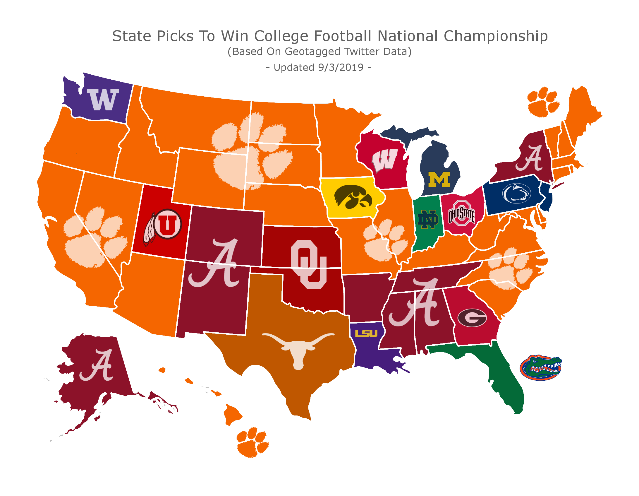 National Champions Map (Credit: casinoinsider.com)