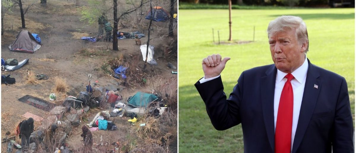 'They Have To Clean It Up' — Trump To Slap San Francisco With Environmental Violation Over Homeless Camps, Used Needles