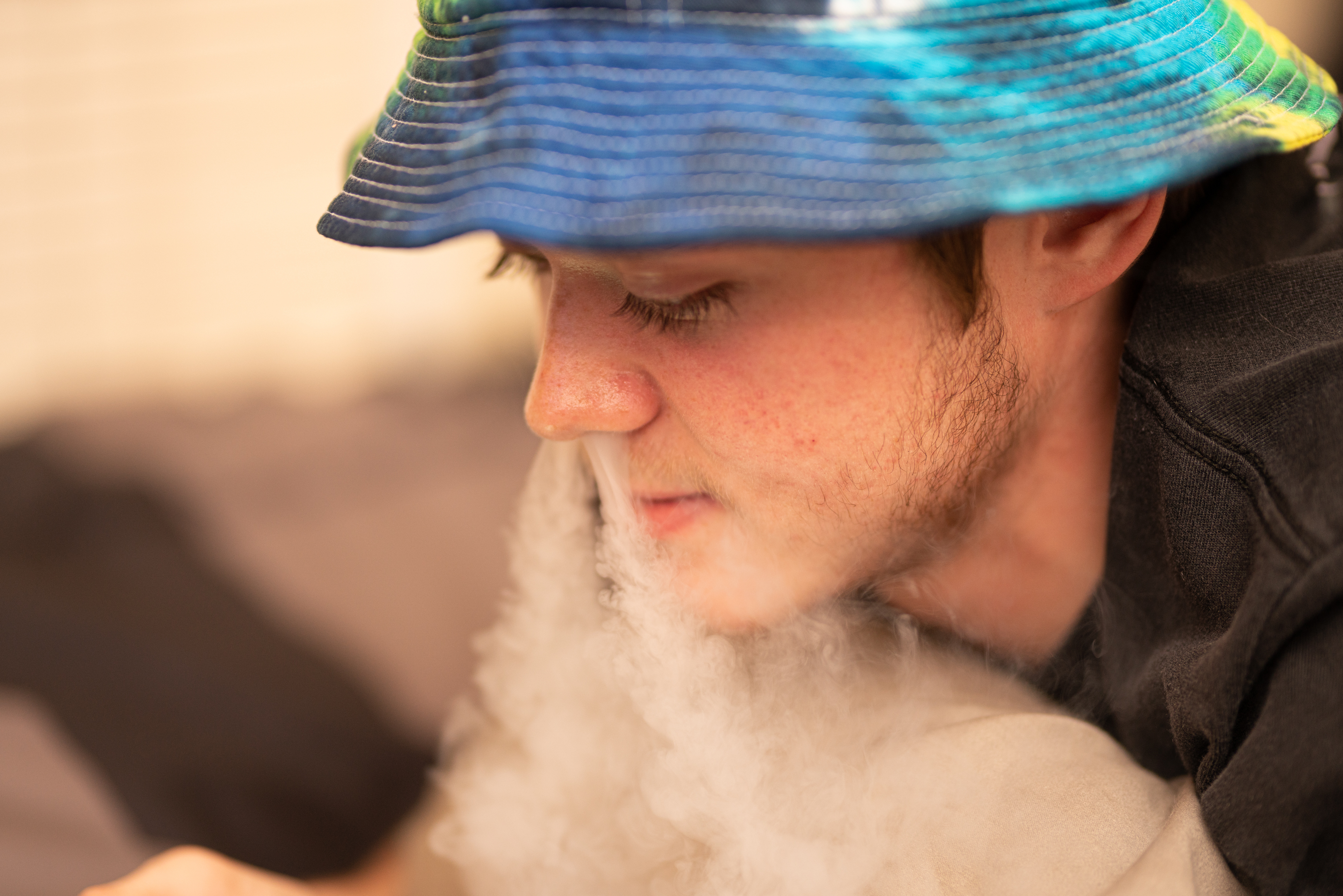 Teenager vaping/ Shutterstock