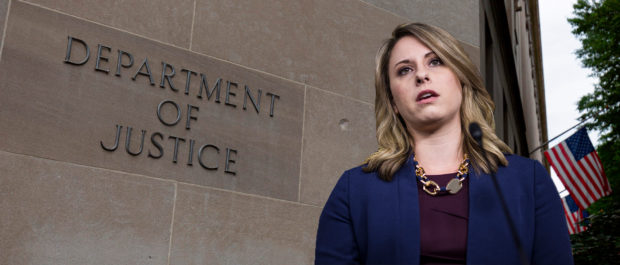 Justice Department, Katie Hill (Getty Images, Daily Caller)