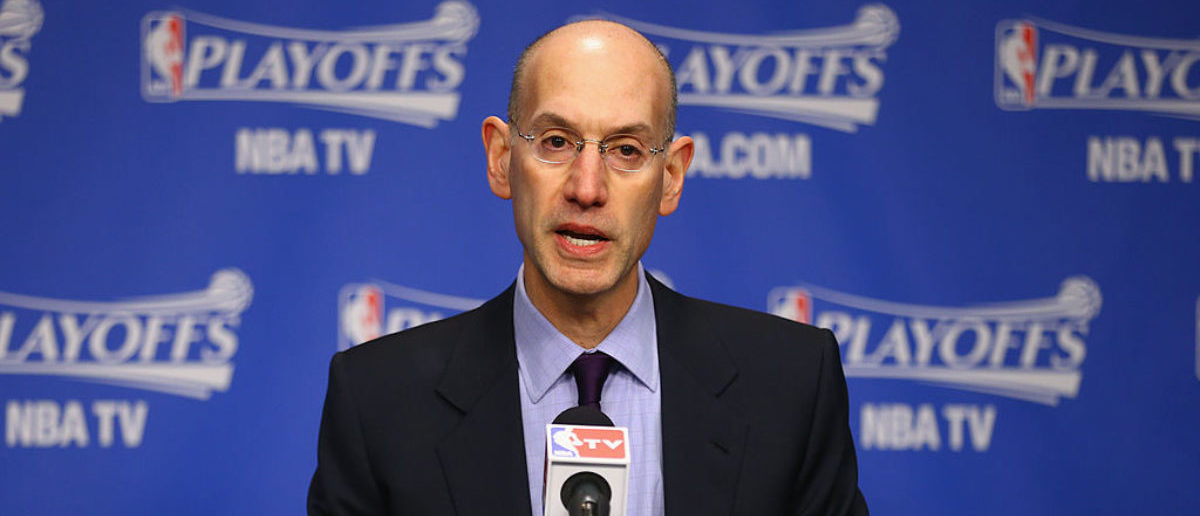 MEMPHIS, TN - APRIL 26: Adam Silver the NBA Commissioner talks to the media before the start of the Oklahoma City Thunder game against the Memphis Grizzlies in Game 4 of the Western Conference Quarterfinals during the 2014 NBA Playoffs at FedExForum on April 26, 2014 in Memphis, Tennessee. (Photo by Andy Lyons/Getty Images)