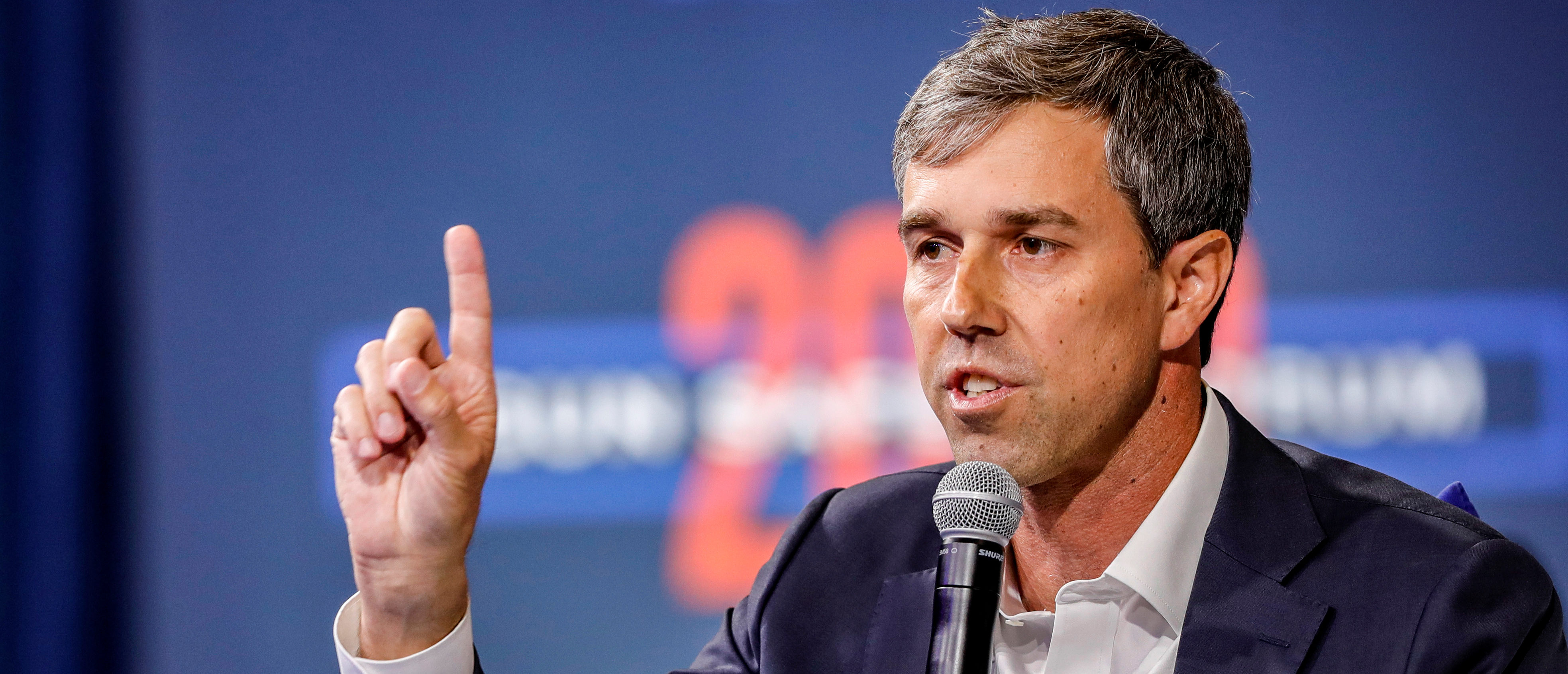 U.S. Democratic presidential candidate and former Texas Congressman Beto O'Rourke responds to a question during a forum held by gun safety organizations the Giffords group and March For Our Lives in Las Vegas, Nevada, U.S., Oct. 2, 2019. REUTERS/Steve Marcus