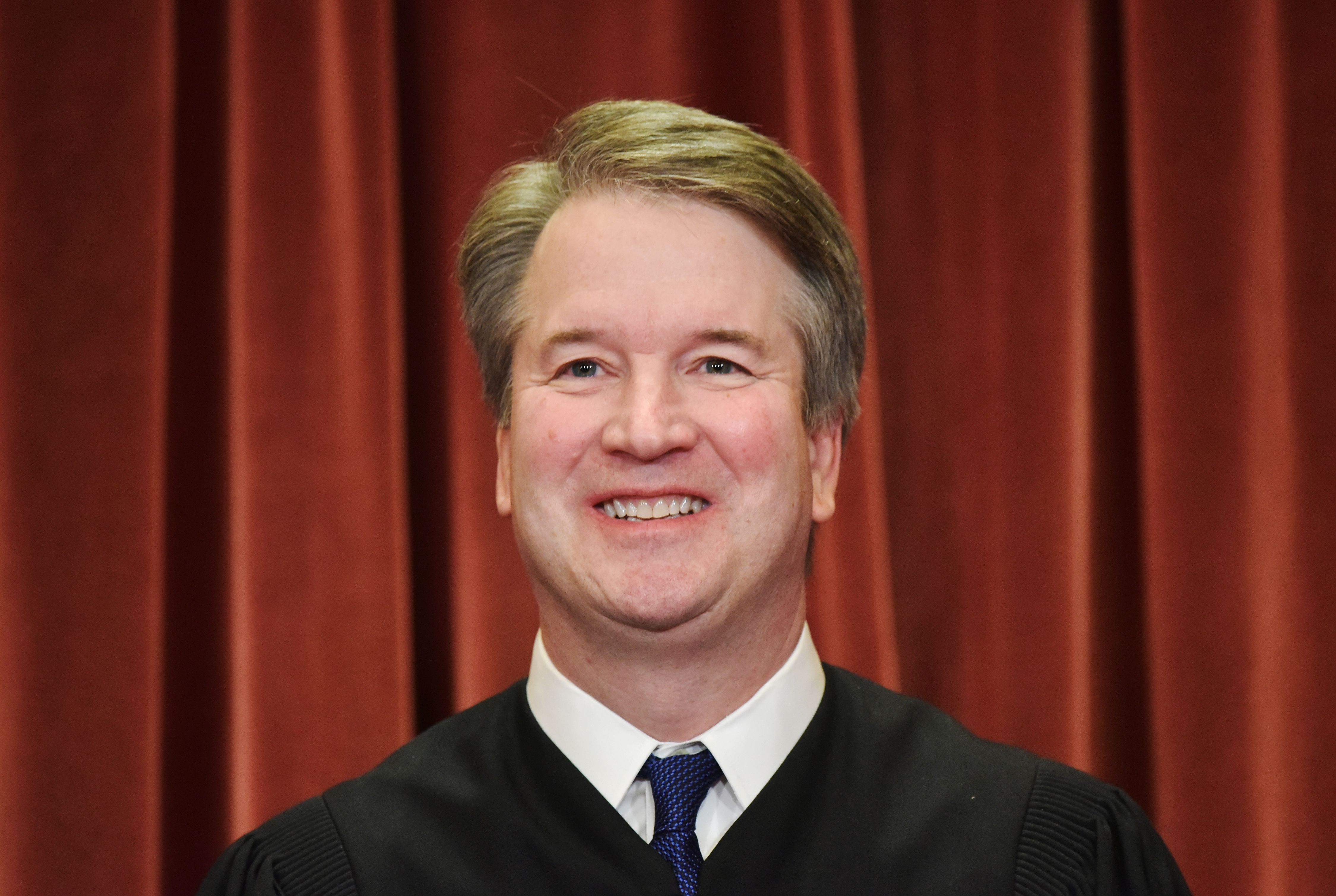 Justice Brett Kavanaugh in an official group photo at the Supreme Court on November 30, 2018. (Mandel Ngan/AFP/Getty Images)