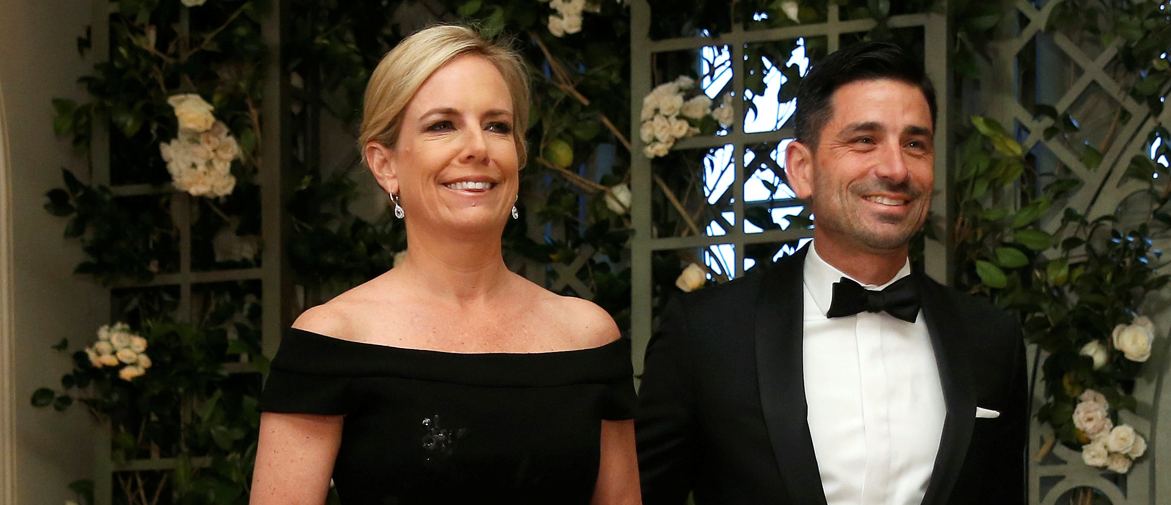 U.S. Secretary of Homeland Security Kirstjen Nielsen and Chad Wolf arrive for the State Dinner in honor of French President Emmanuel Macron at the White House in Washington