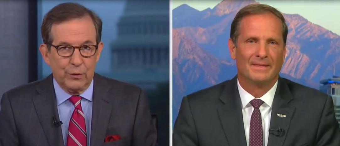 Chris Stewart talks with Fox News anchor Chris Wallace (Fox News screengrab)
