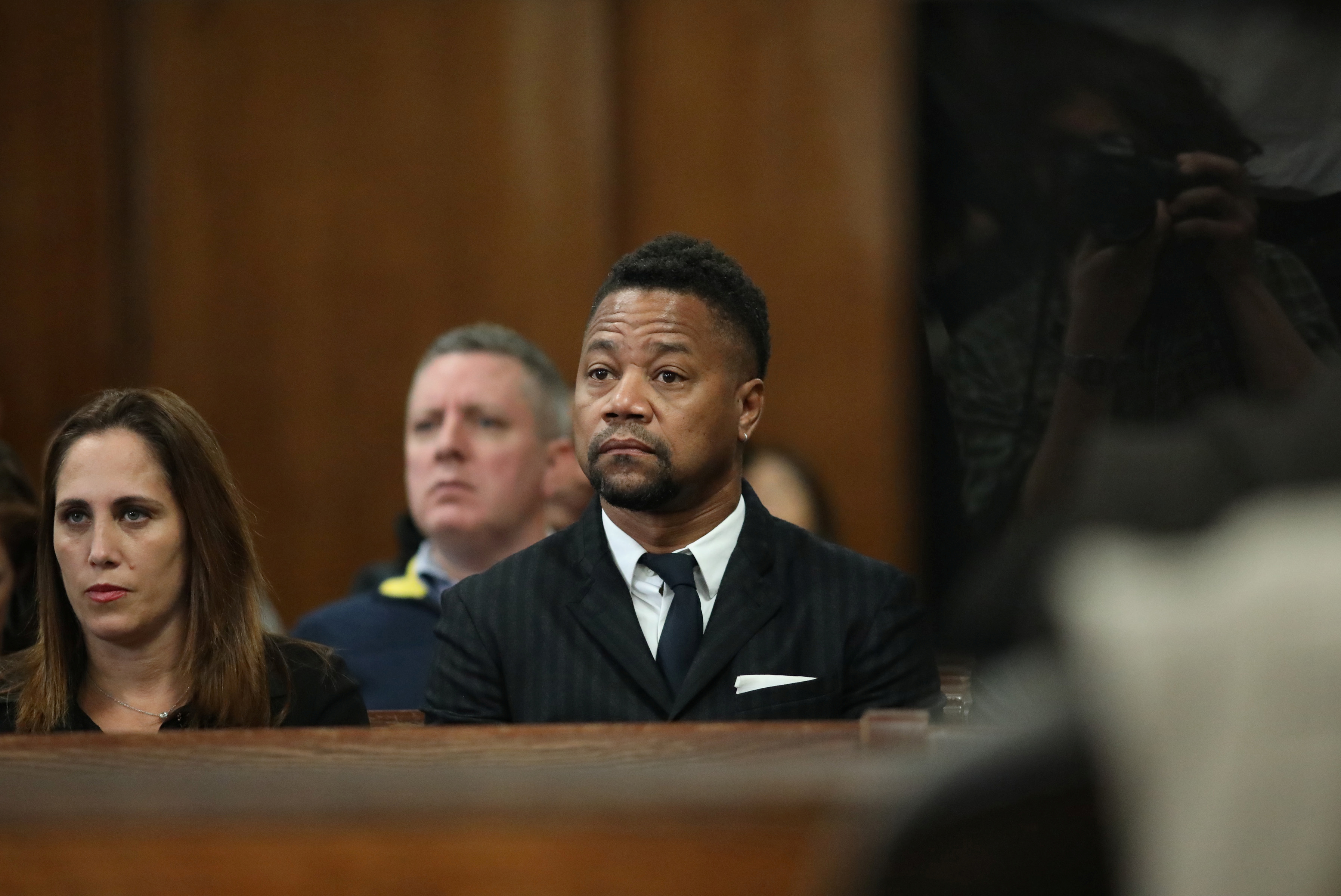 Actor Cuba Gooding Jr. appears in New York State Criminal Court in the Manhattan borough of New York, U.S.., October 10, 2019. Alec Tabak/Pool via REUTERS - RC1C5DB7DEE0