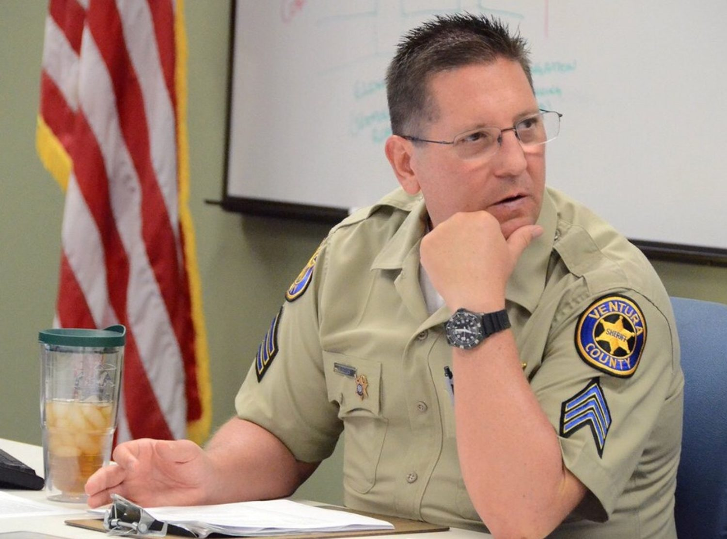 Sheriff's deputy Sergeant Ron Helus, killed when a gunman opened fire at a crowded popular southern California bar, in Thousand Oaks, California, U.S., is shown in this photo provided November 9, 2018. Courtesy Ventura County Sheriff's Office/Handout via REUTERS