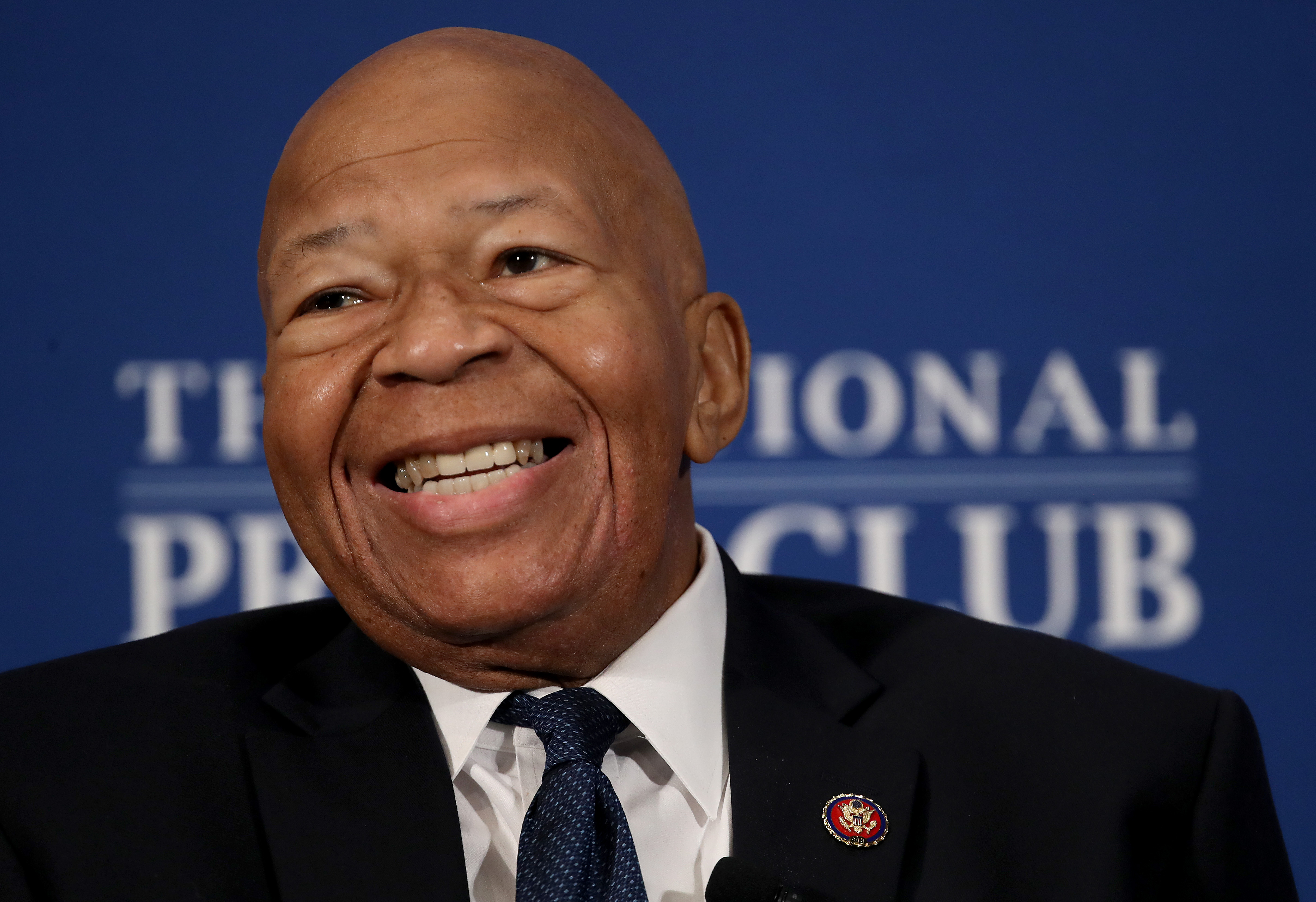 House Oversight and Reform Chairman Elijah Cummings speaks at the National Press Club on August 7, 2019. (Win McNamee/Getty Images)