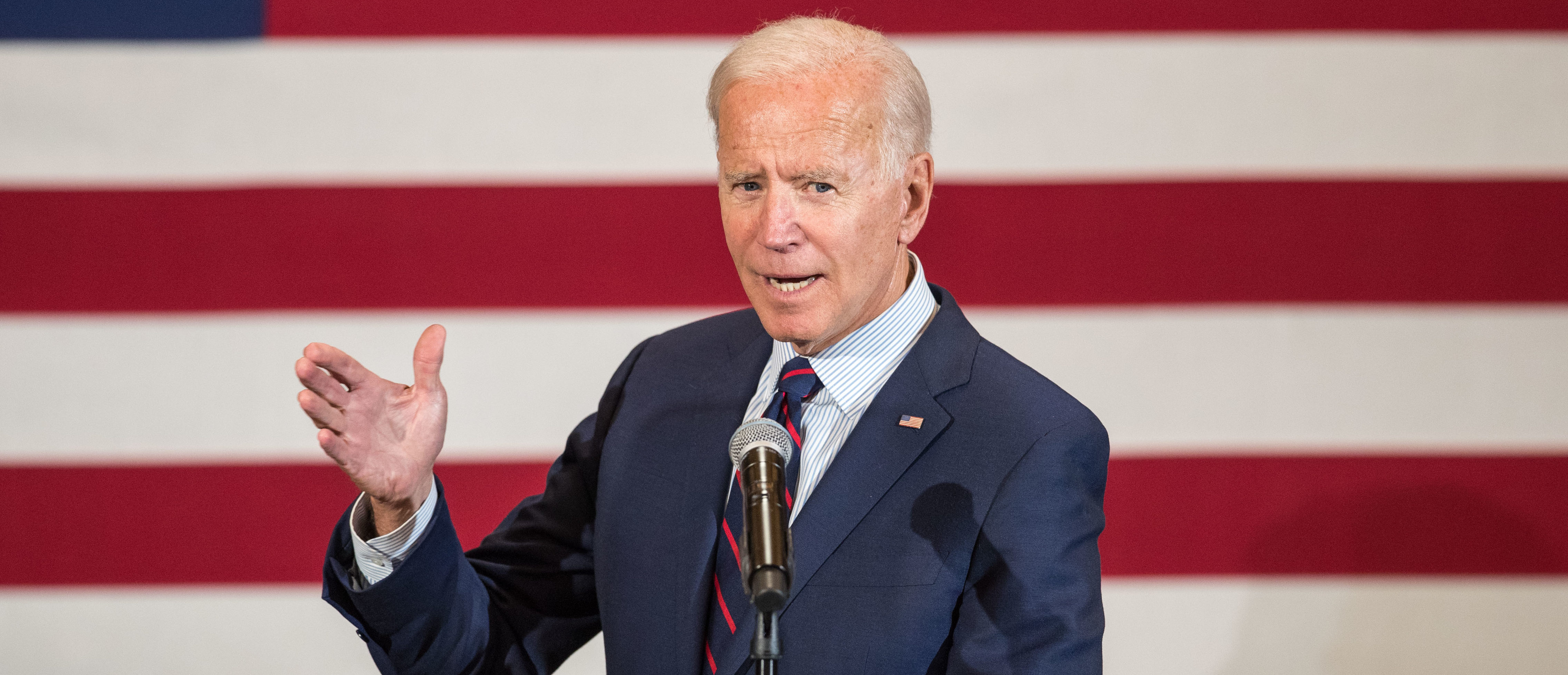 Democratic presidential candidate, former Vice President Joe Biden speaks during a campaign event on October 9, 2019 in Manchester, New Hampshire. (Scott Eisen/Getty Images)