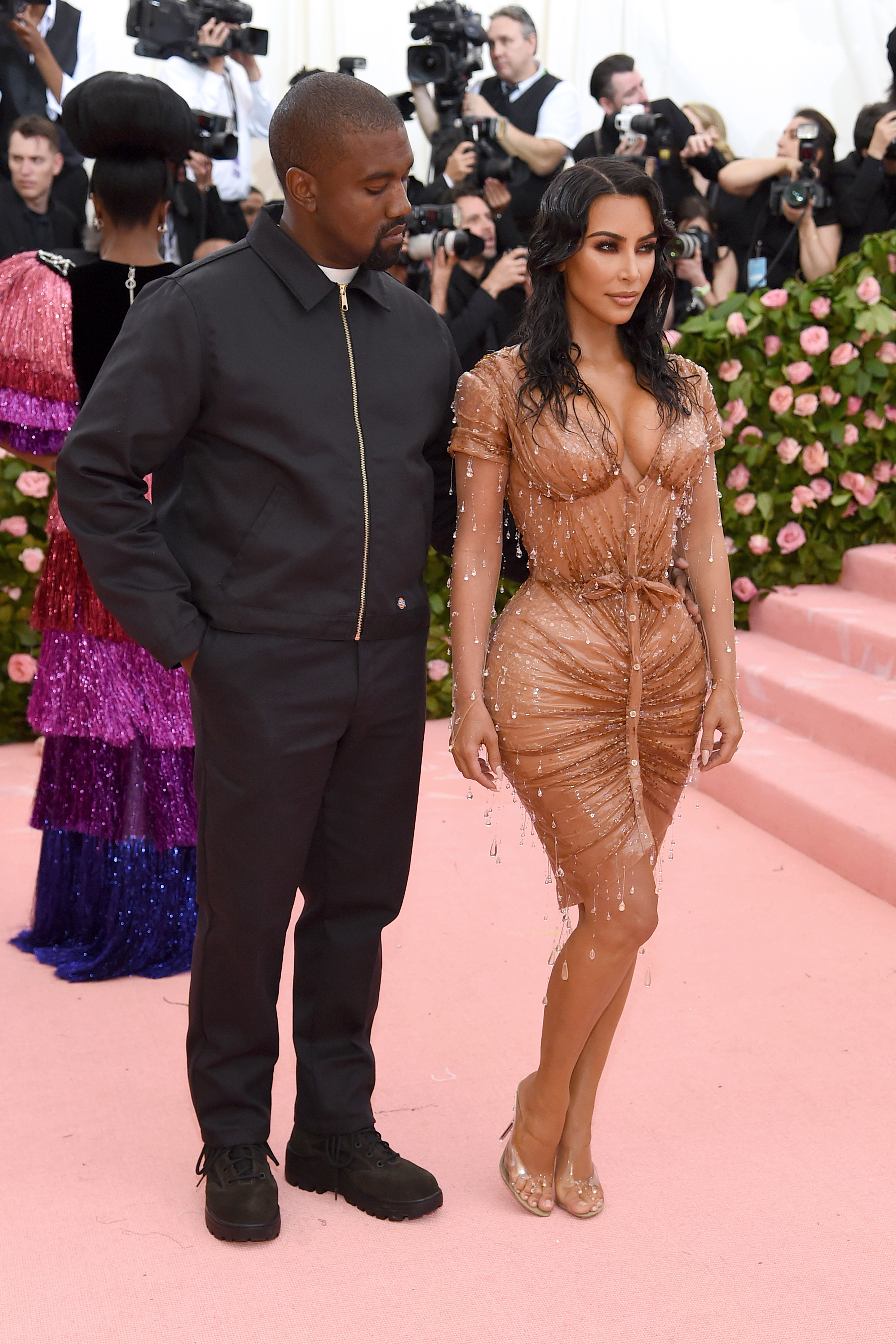 Kanye West and Kim Kardashian West attend The 2019 Met Gala Celebrating Camp: Notes on Fashion at Metropolitan Museum of Art on May 06, 2019 in New York City. (Photo by Jamie McCarthy/Getty Images)