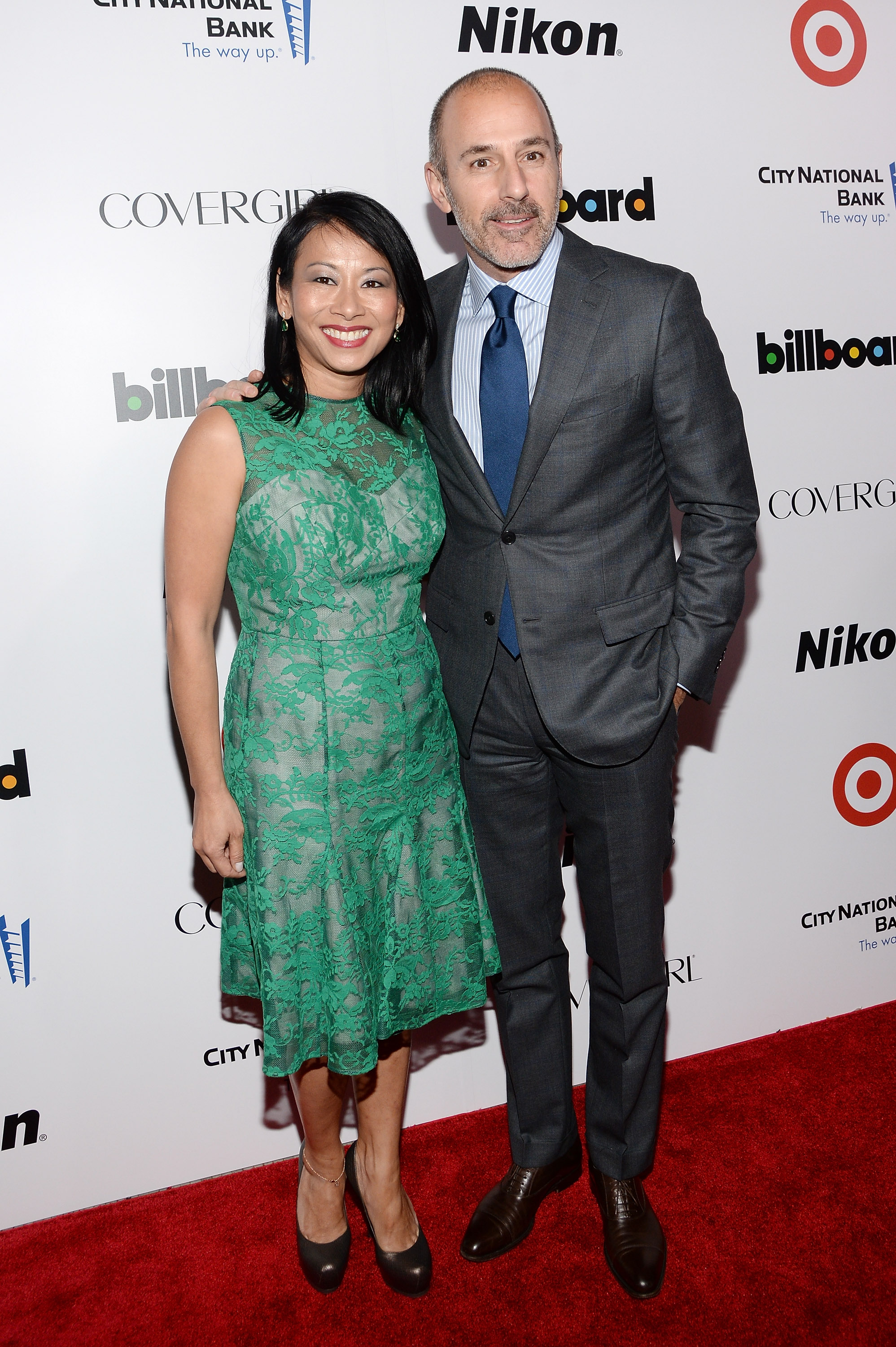 Melissa Lonner and Matt Lauer attend Billboard's annual Women in Music event at Capitale on December 10, 2013 in New York City. (Photo by Larry Busacca/Getty Images)