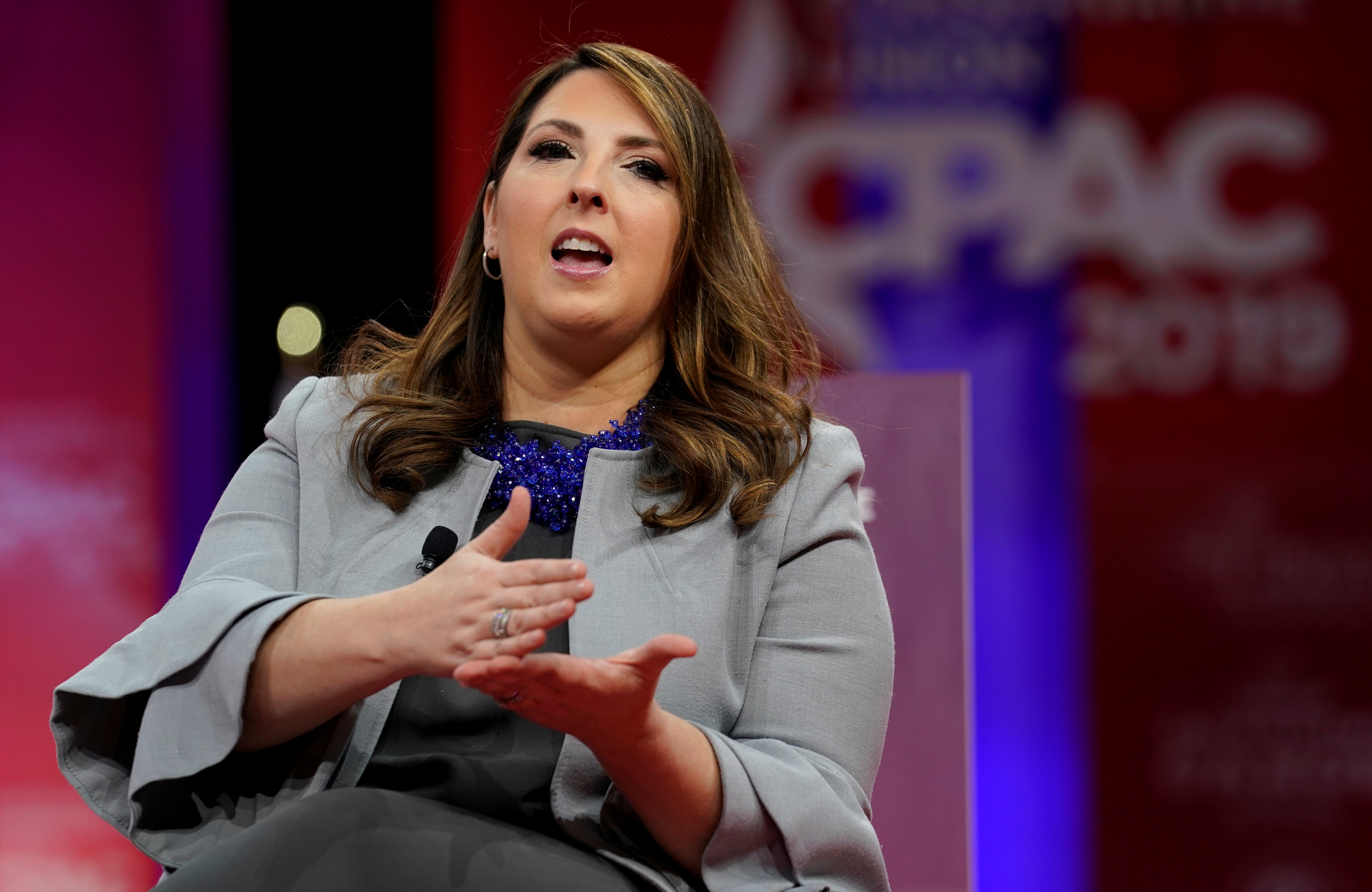 epublican National Committee chairwoman Ronna McDaniel speaks at the Conservative Political Action Conference (CPAC) at National Harbor in Oxon Hill, Maryland, U.S., February 28, 2019. REUTERS/Kevin Lamarque - RC19FD634A50
