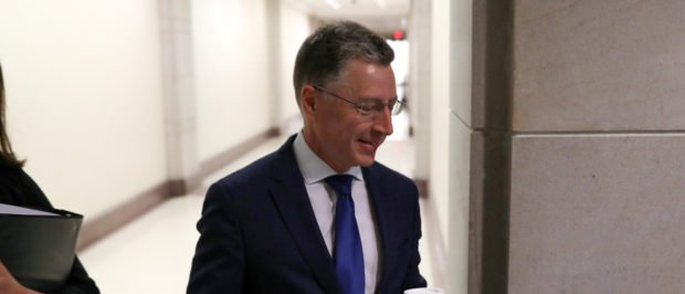 Kurt Volker, U.S. President Donald Trump's former envoy to Ukraine, arrives to be interviewed by staff for three House of Representatives committees as part of the impeachment inquiry into the president's dealings with Ukraine, at the U.S. Capitol in Washington, U.S. October 3, 2019. REUTERS/Jonathan Ernst