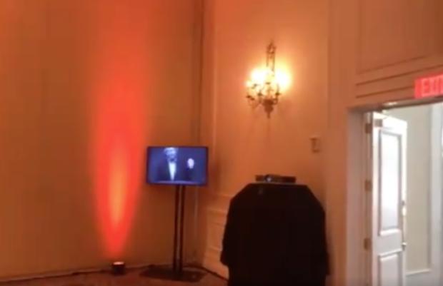 Empty room at AMP Festival at Trump Doral (Twitter: CJ Ciaramella)