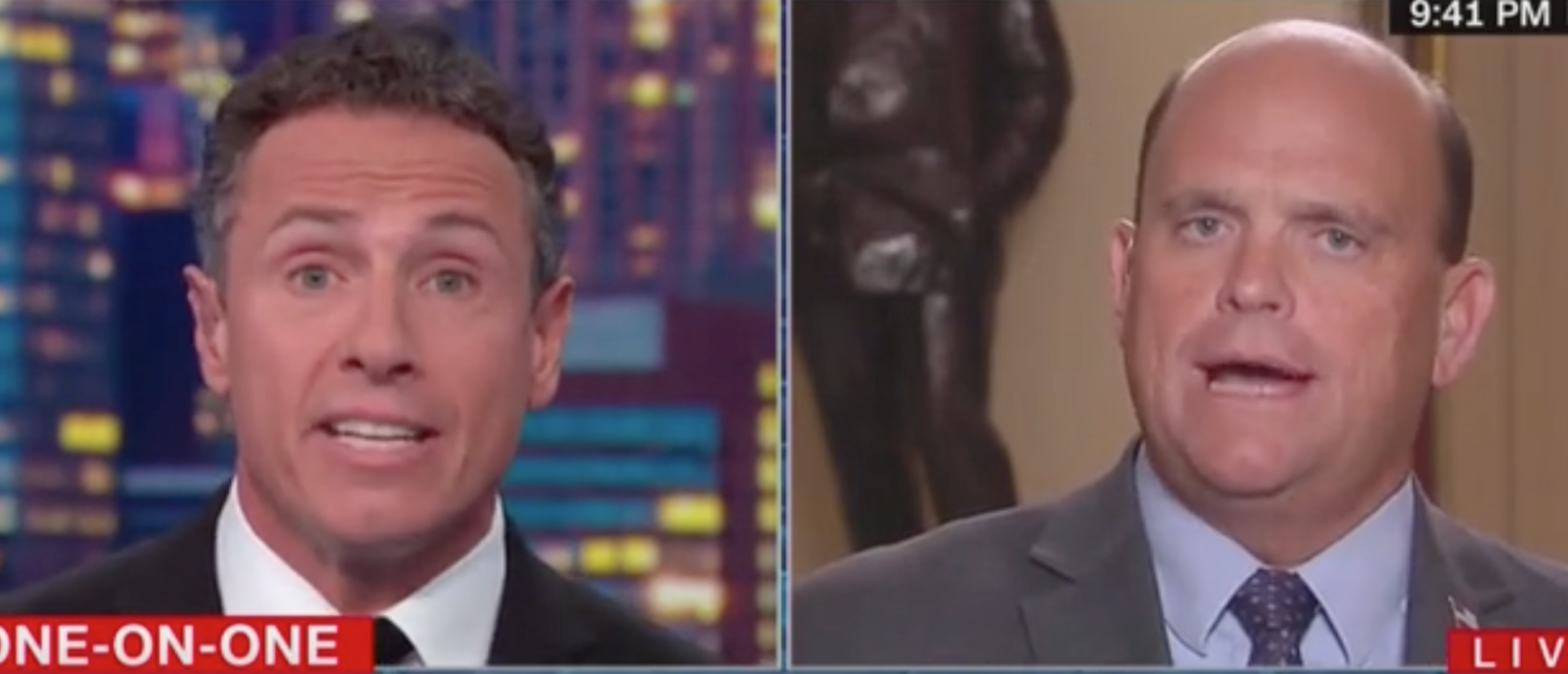 'You Did A Double Wrong Here': Chris Cuomo Scolds GOP Congressman For Supporting Trump