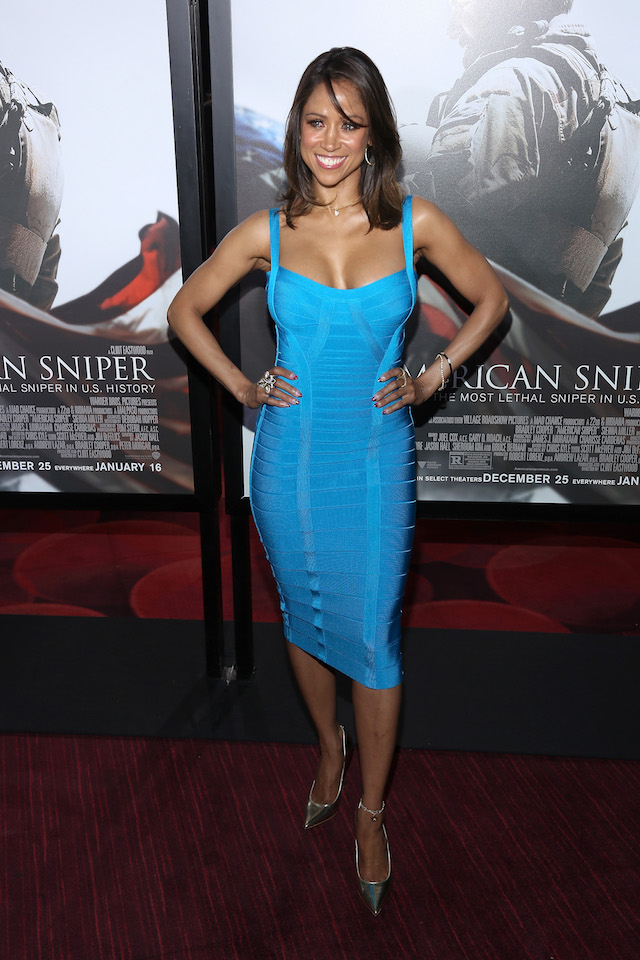 """Stacey Dash arrives at the """"American Sniper"""" New York Premiere at Frederick P. Rose Hall, Jazz at Lincoln Center on December 15, 2014 in New York City. (Photo by Rob Kim/Getty Images)"""
