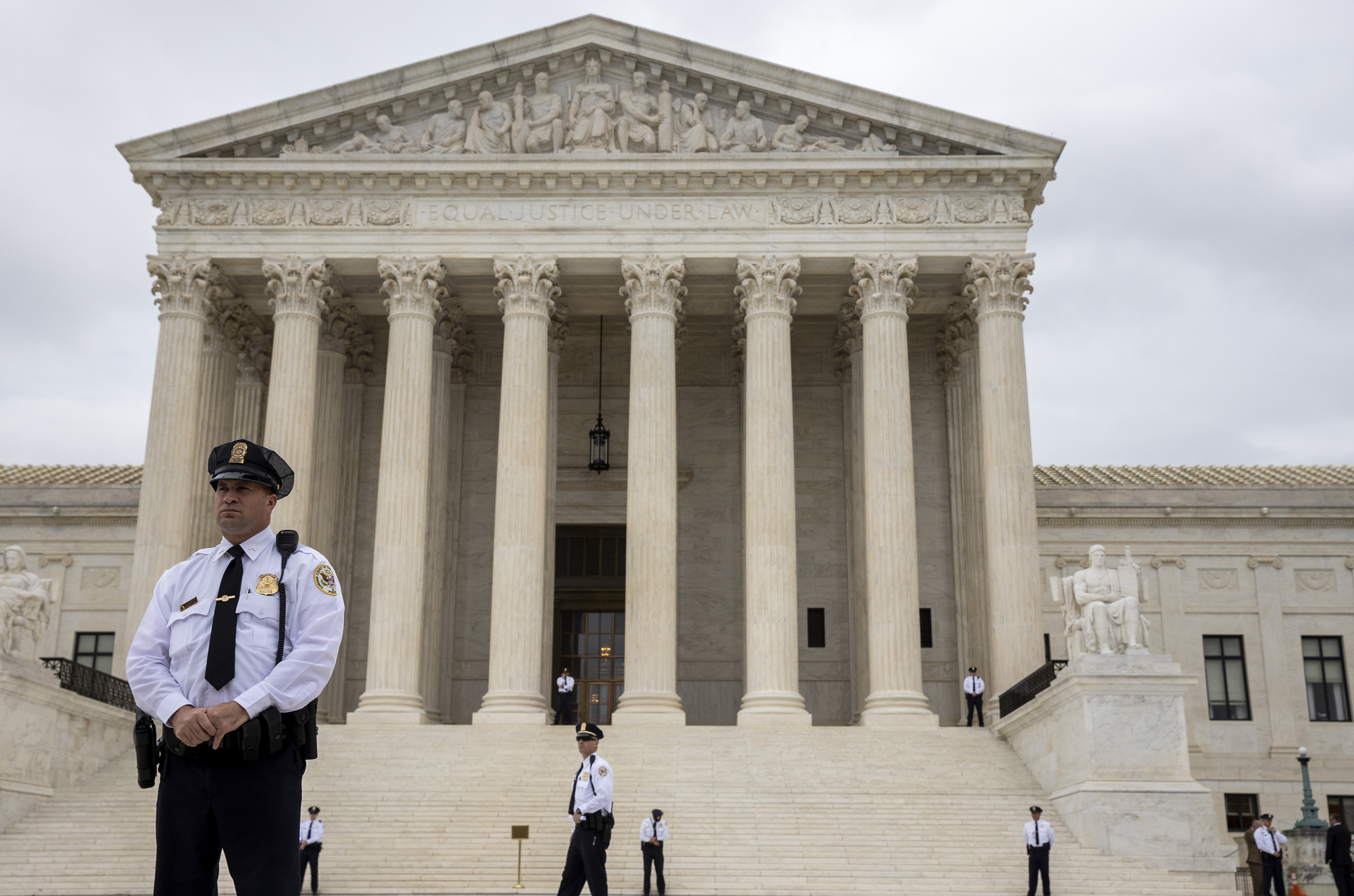 The Supreme Court as it hears arguments on gender identity and workplace discrimination on October 08, 2019. (Tasos Katopodis/Getty Images)