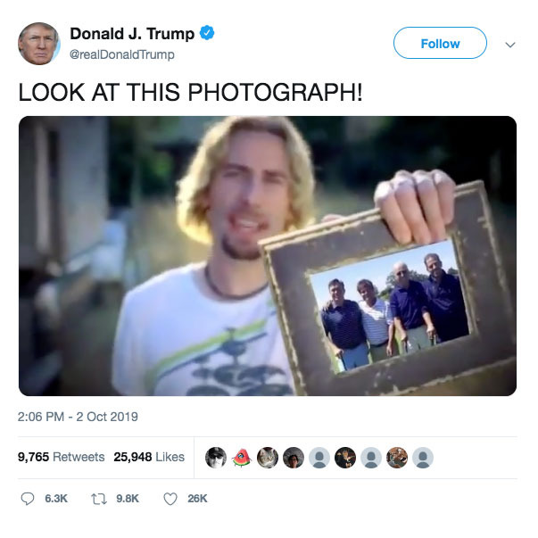Trump's video took aim at presidential hopeful Joe Biden before it was removed. (Twitter/Donald Trump)