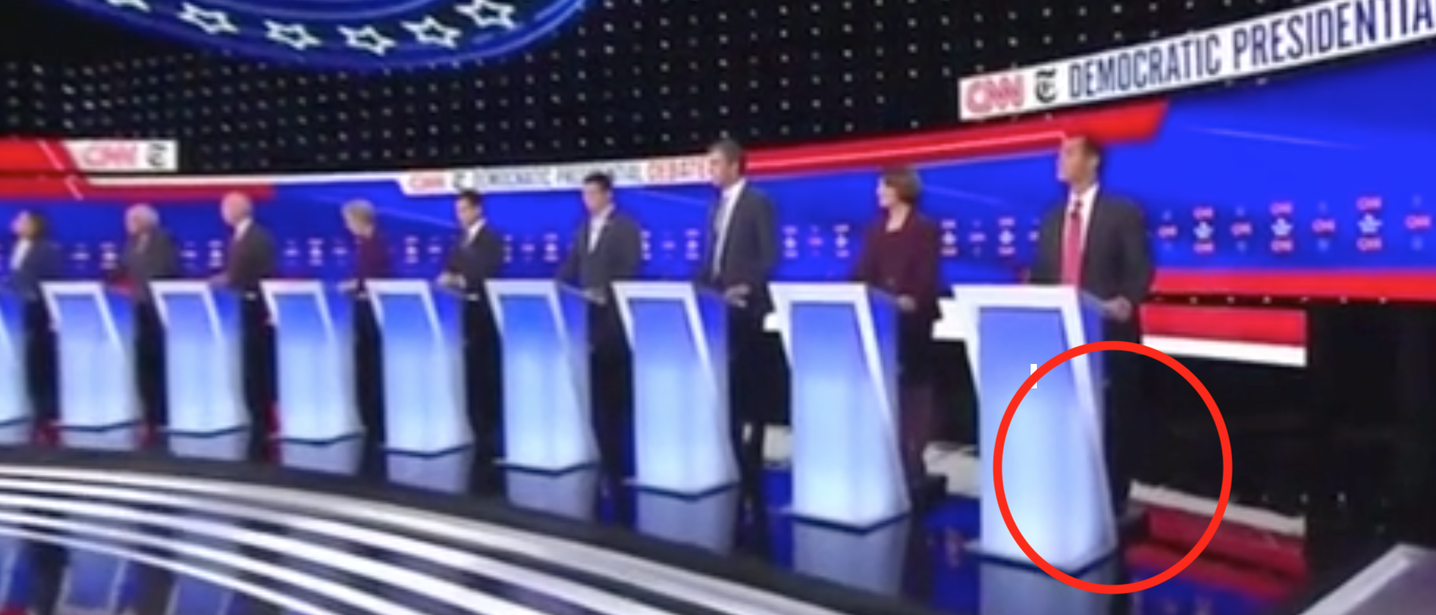 Julian Castro Gets A Debate Stage Lift From A Booster Box