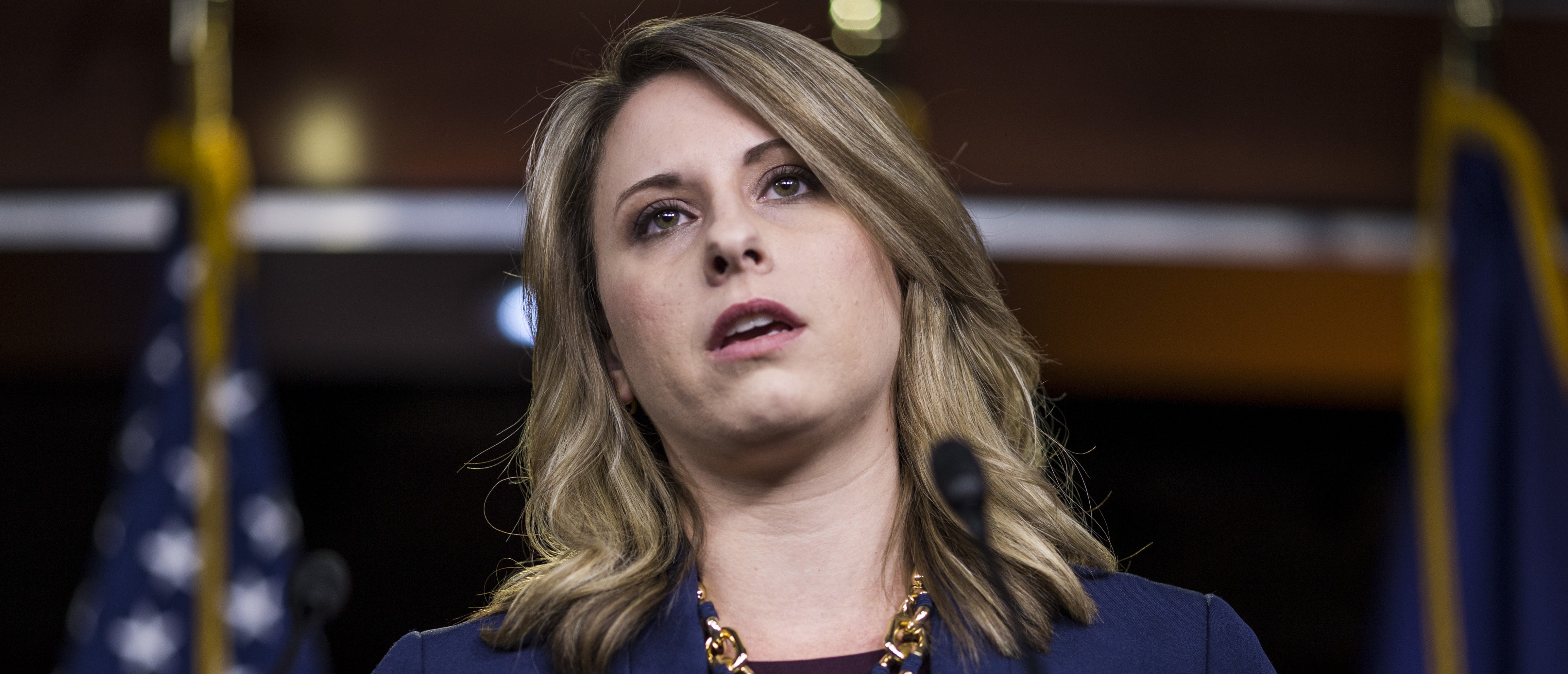 Rep. Katie Hill is pictured. (Zach Gibson/Getty Images)