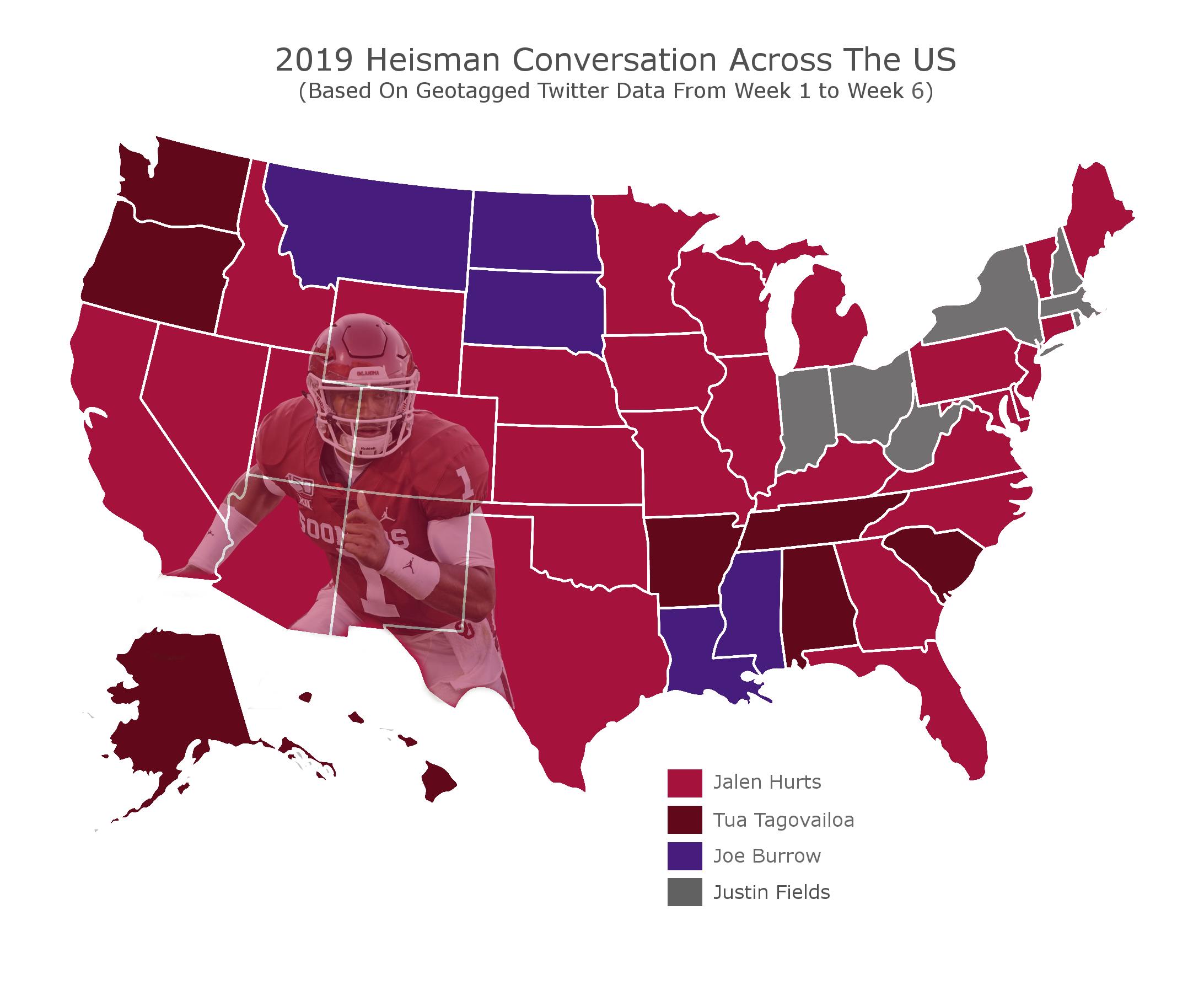 Heisman Map (Credit: bettingapps.org)