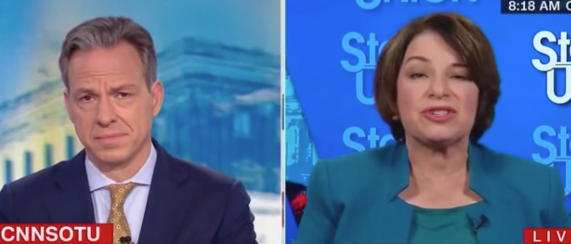 Impeachment Trial Or Campaign? Amy Klobuchar Tells Jake Tapper It's 'An Easy Question'