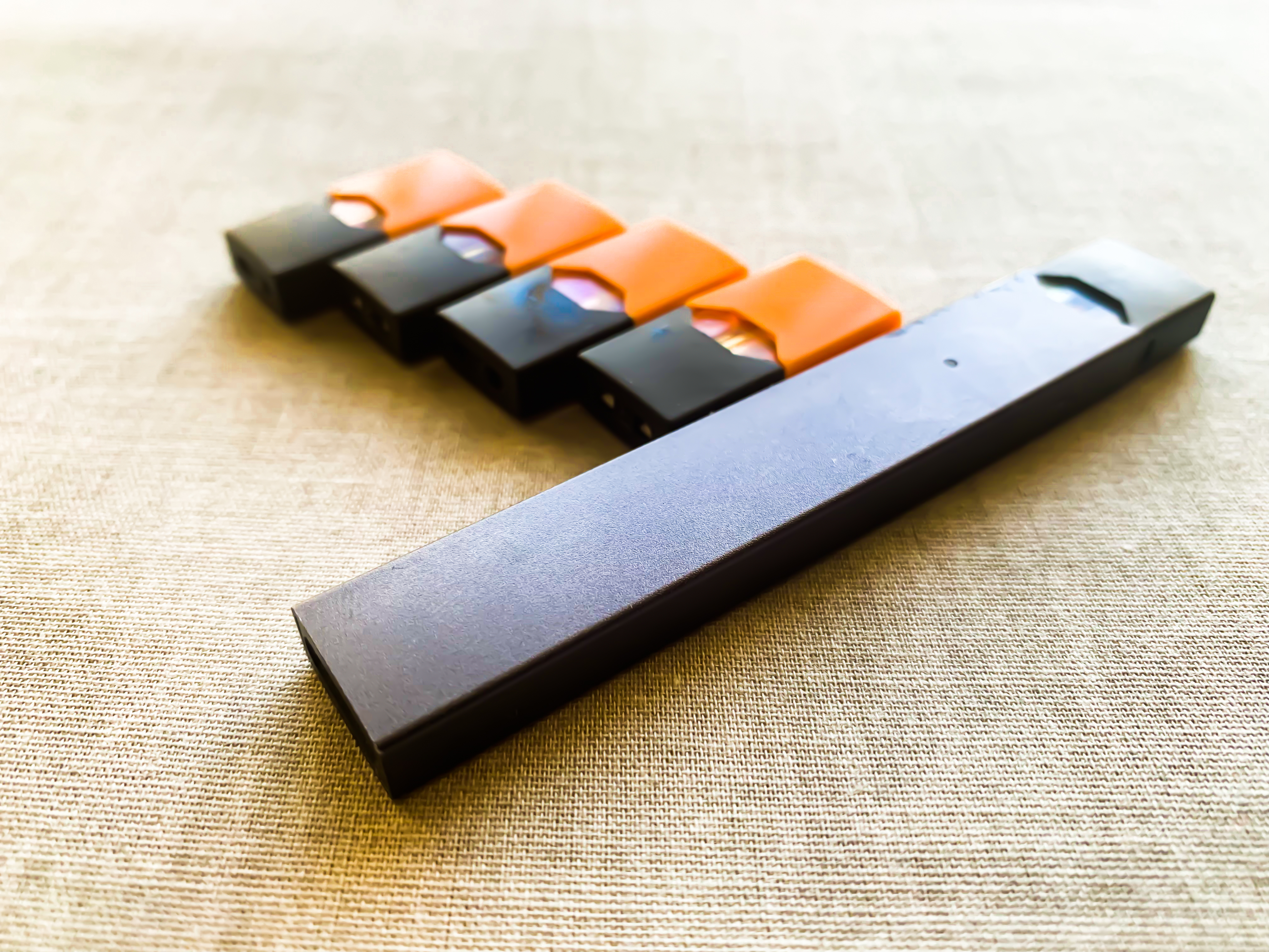 Juul's mint flavored pods saw a surge in popularity after the company stopped selling its sweet flavors like mango, seen here. (Shutterstock/ggTravelDiary)
