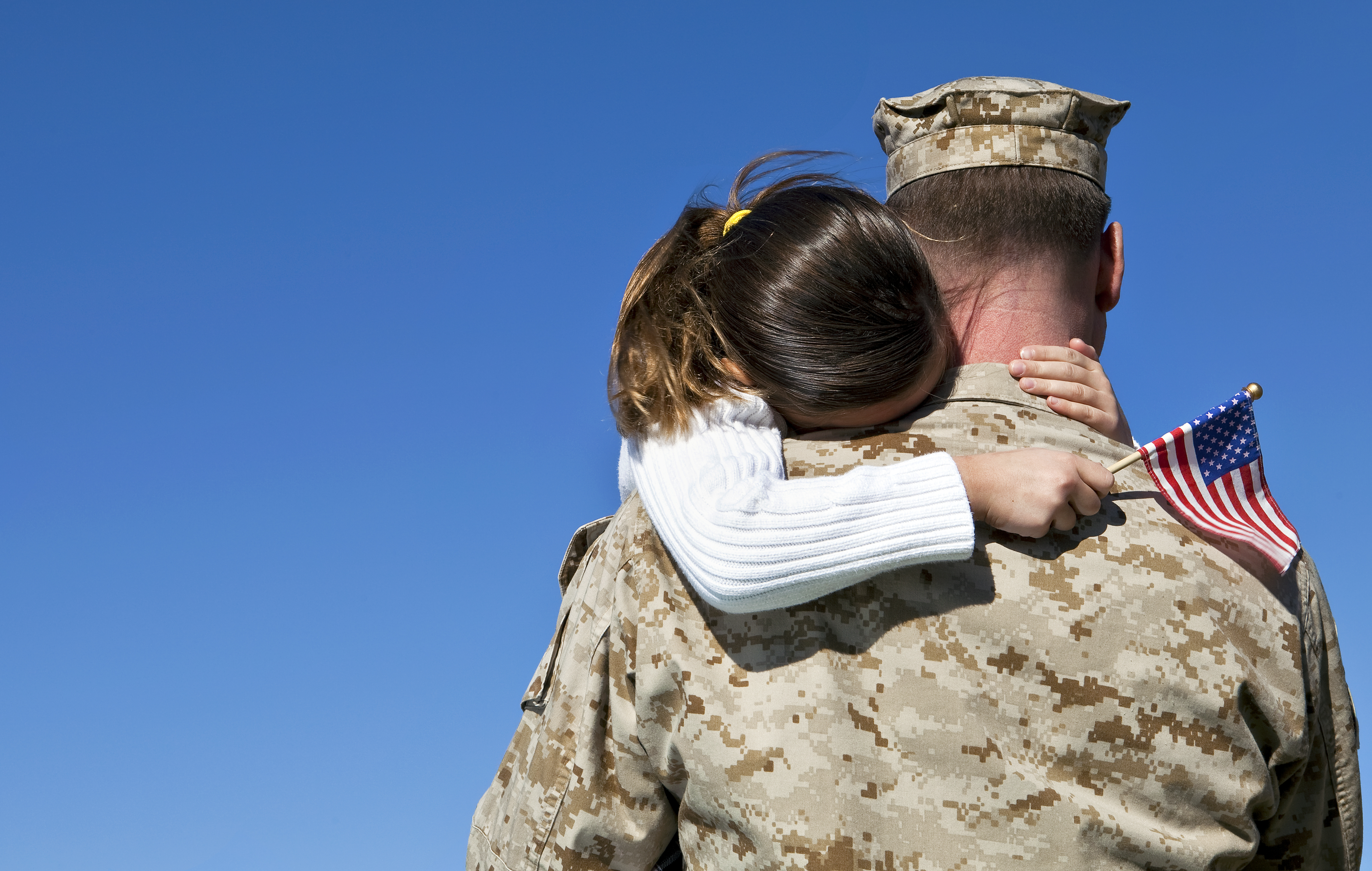 shutterstock- military- family- sad