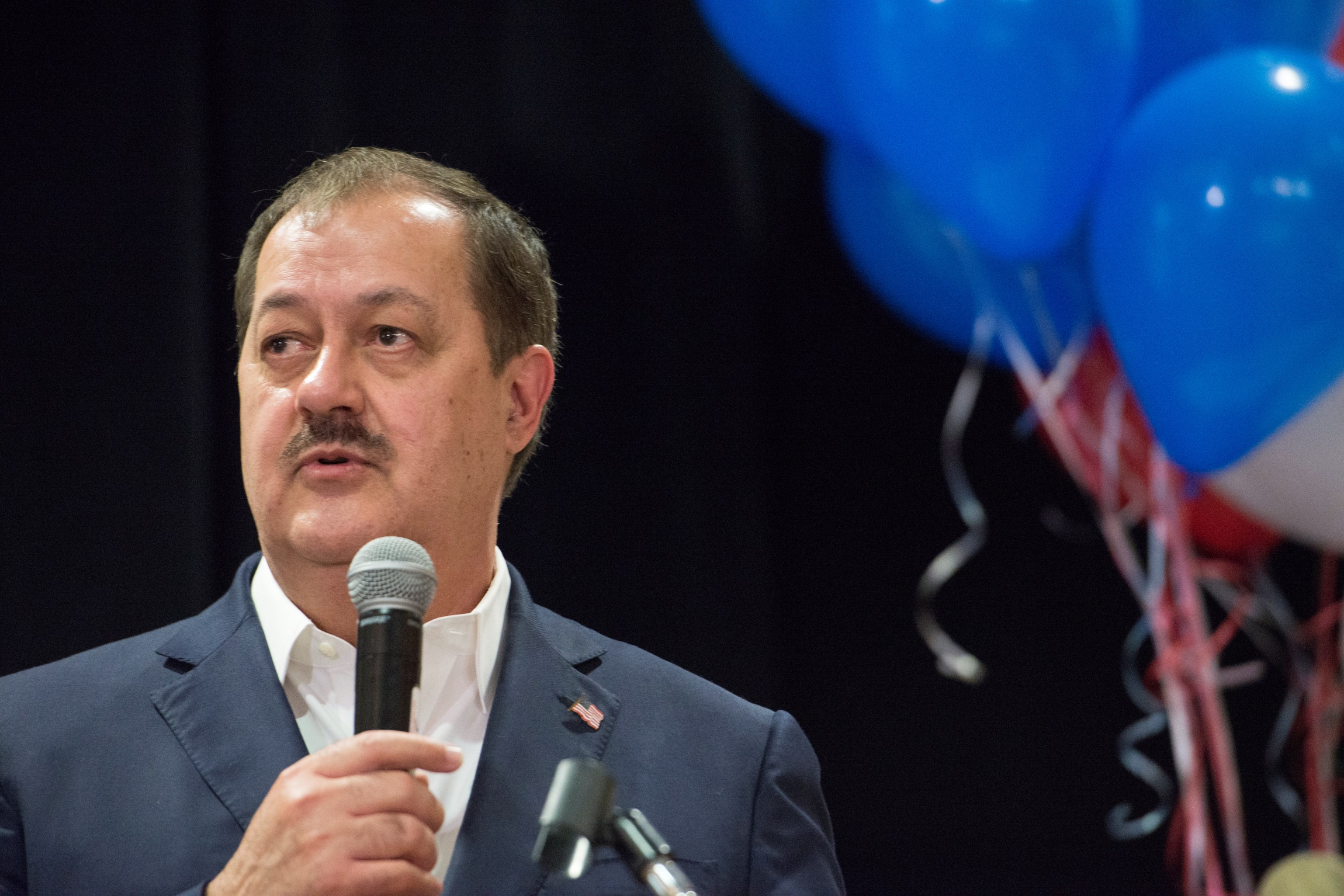 Republican U.S. Senate candidate Don Blankenship speaks to his supporters during the primary election in Charleston, West Virginia, U.S., May 8, 2018. REUTERS/Lexi Browning -