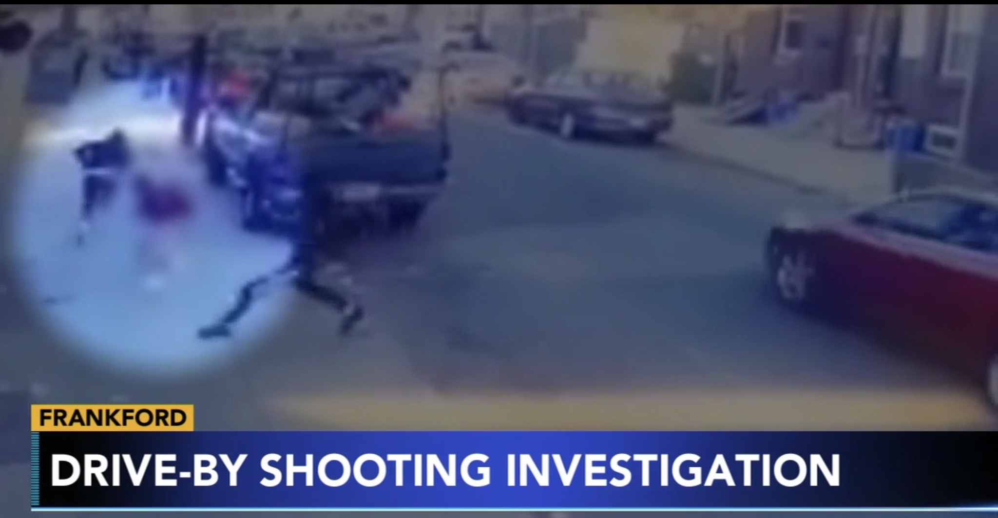 Surveillance video of drive-by shooting in Philadelphia, Nov. 6, 2019. ABC News screenshot