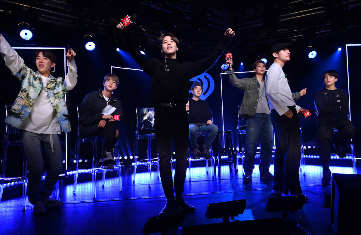BTS appears onstage for iHeartRadio Live with BTS at iHeartRadio Theater New York on May 21, 2019 in New York City. (Photo by Jamie McCarthy/Getty Images for iHeartMedia)
