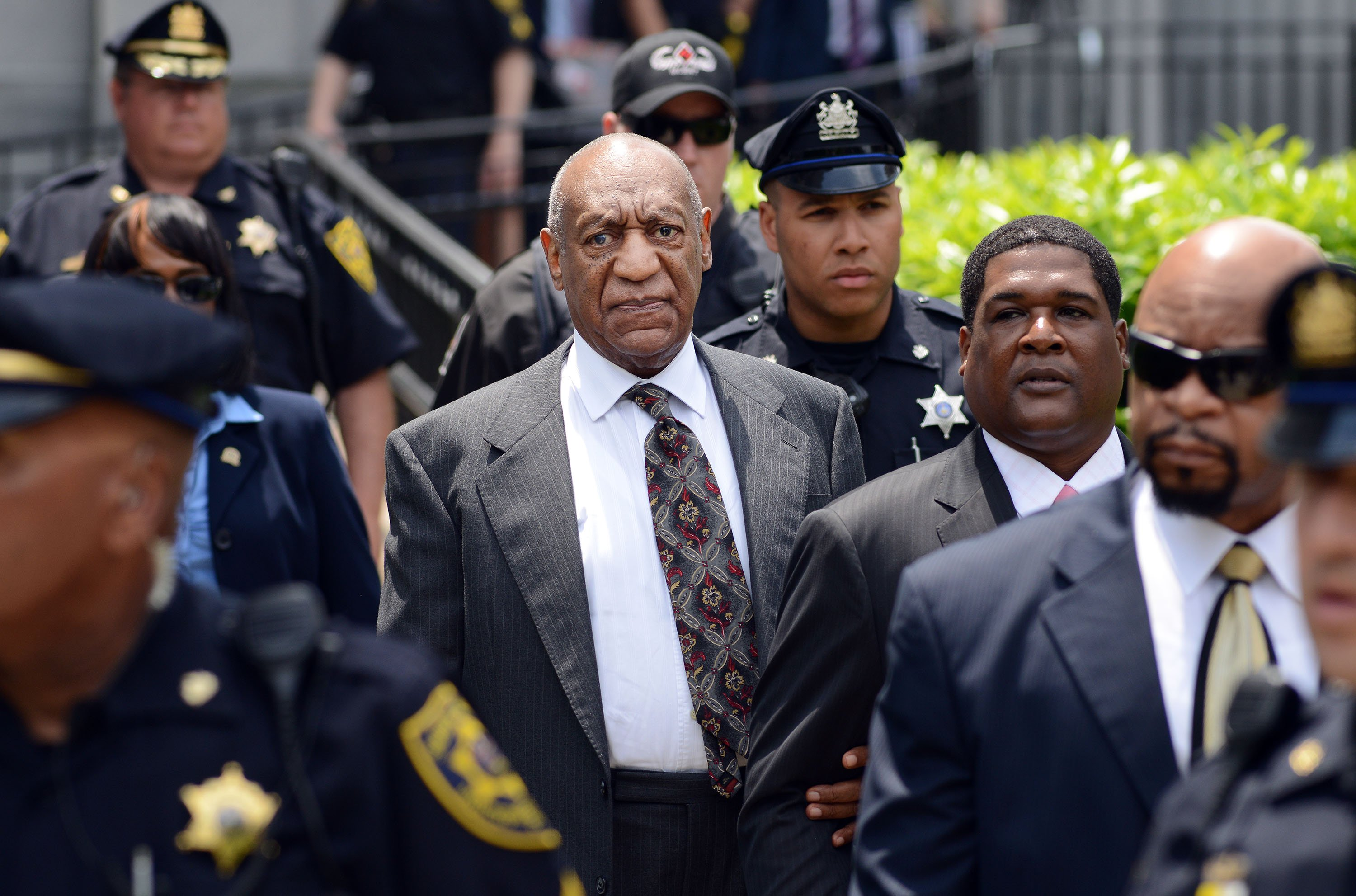 Actor and comedian Bill Cosby leaves a preliminary hearing on sexual assault charges on May 24, 2016 in at Montgomery County Courthouse in Norristown, Pennsylvania. Enough evidence was found to proceed with a trial, a Pennsylvania judge ruled. (Photo by William Thomas Cain/Getty Images)