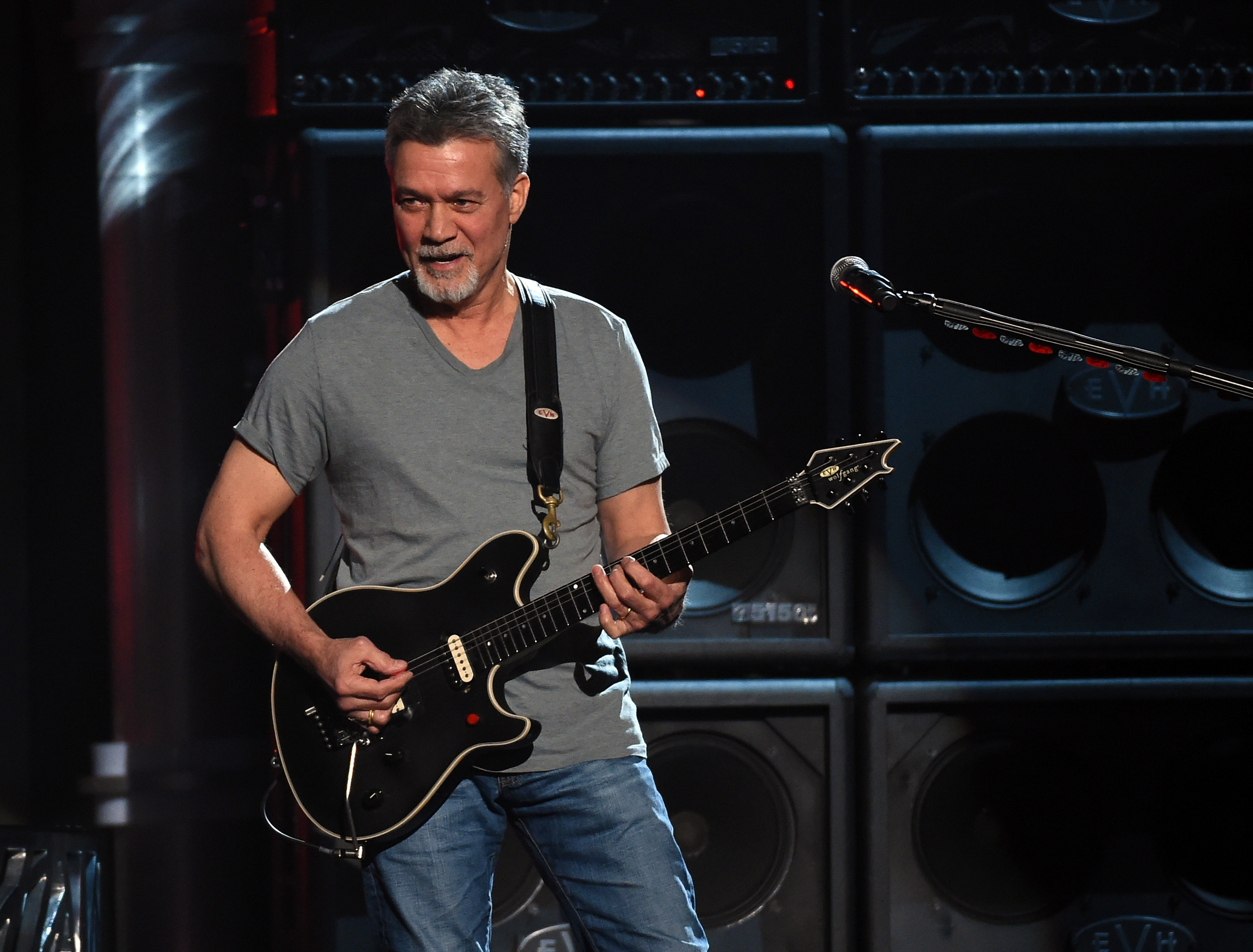 Musician Eddie Van Halen of Van Halen performs onstage during the 2015 Billboard Music Awards at MGM Grand Garden Arena on May 17, 2015 in Las Vegas, Nevada. (Photo by Ethan Miller/Getty Images)
