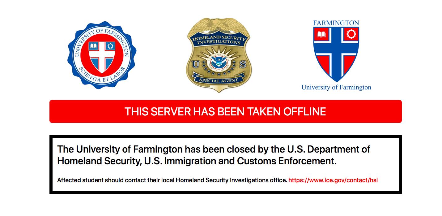 Farmington Website. Screen grab