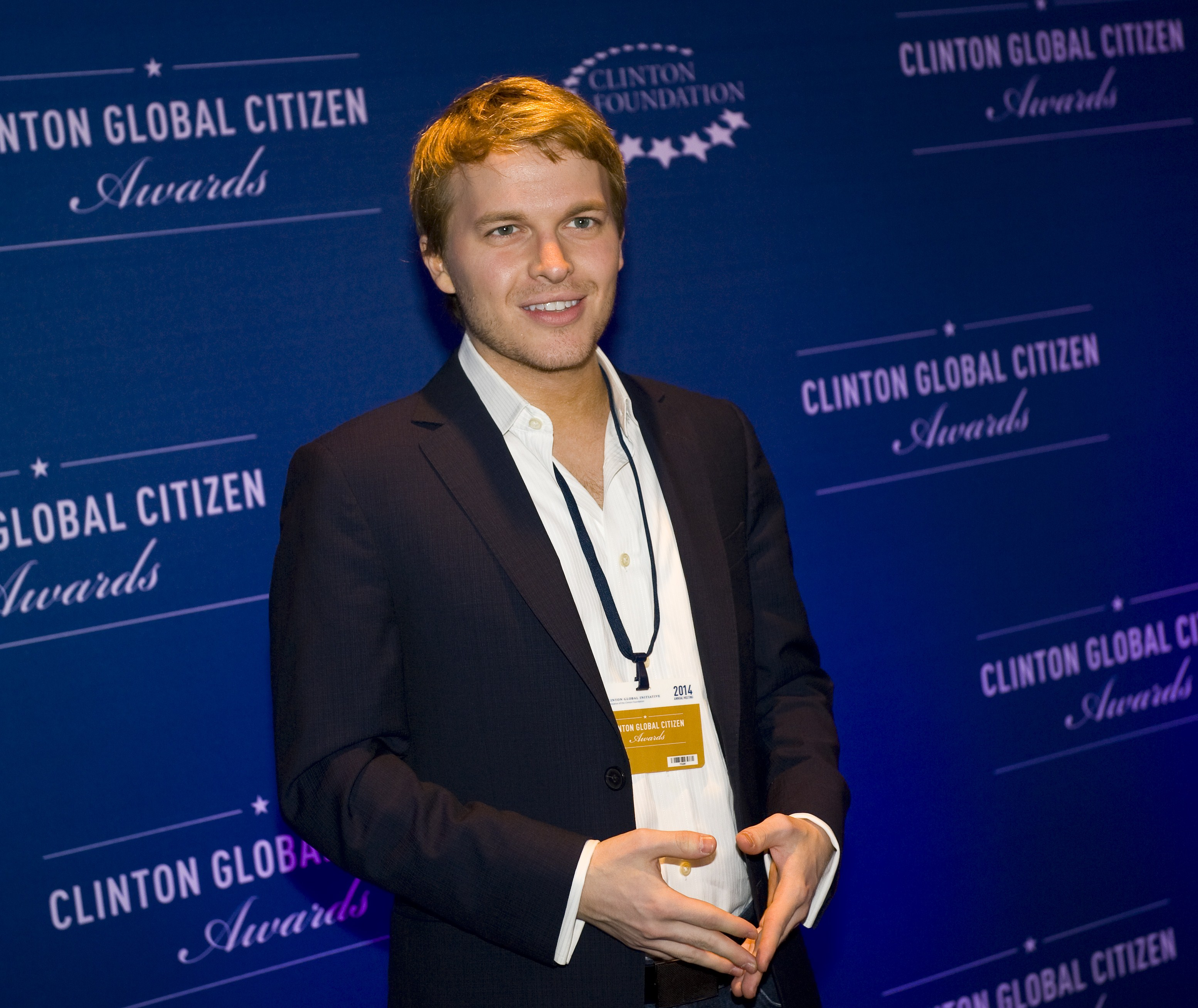 Ronan Farrow, son of actress Mia Farrow attends the 8th Annual Clinton Global Citizen Awards ceremony in New York September 21, 2014. (Photo: STEPHEN CHERNIN/AFP via Getty Images)