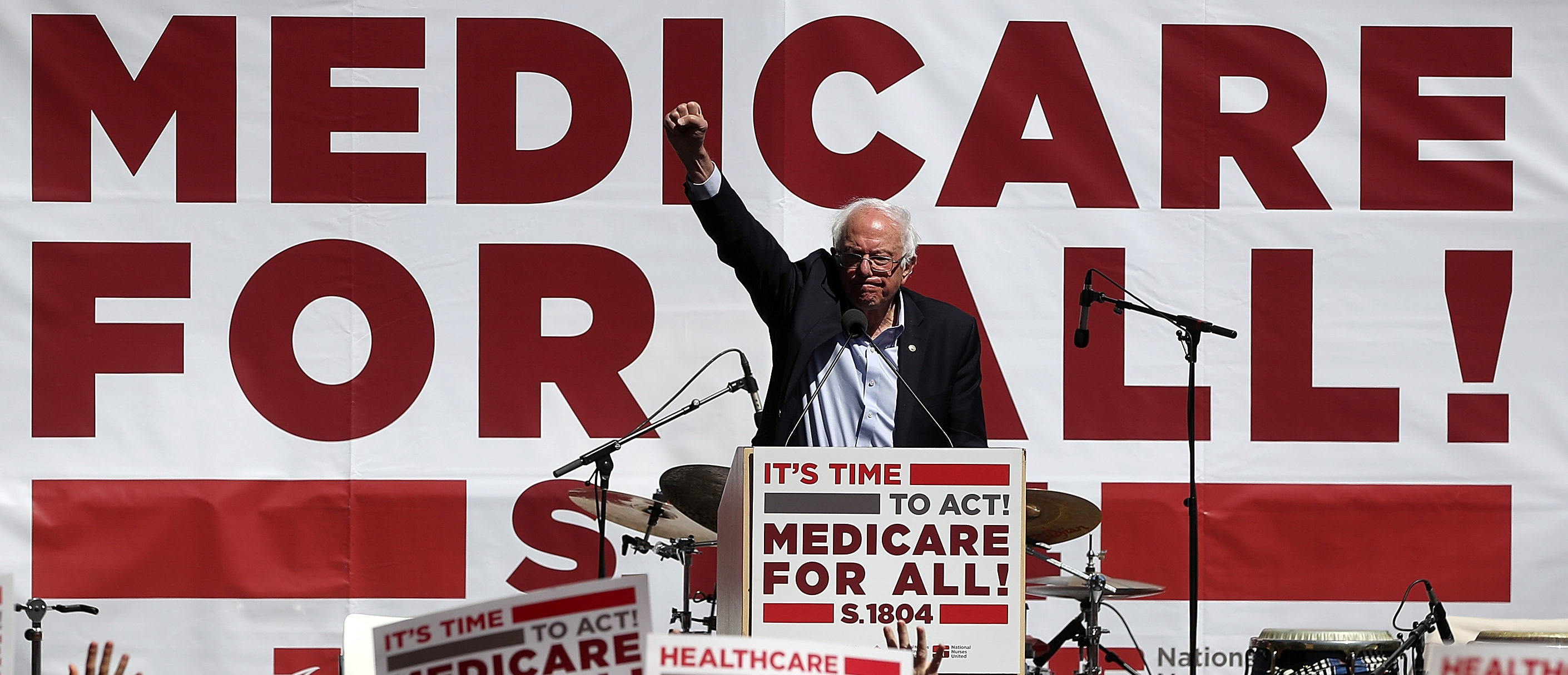 U.S. Sen. Bernie Sanders (I-VT) speaks during a health care rally at the 2017 Convention of the California Nurses Association/National Nurses Organizing Committee on September 22, 2017 in San Francisco, California. (Photo by Justin Sullivan/Getty Images)