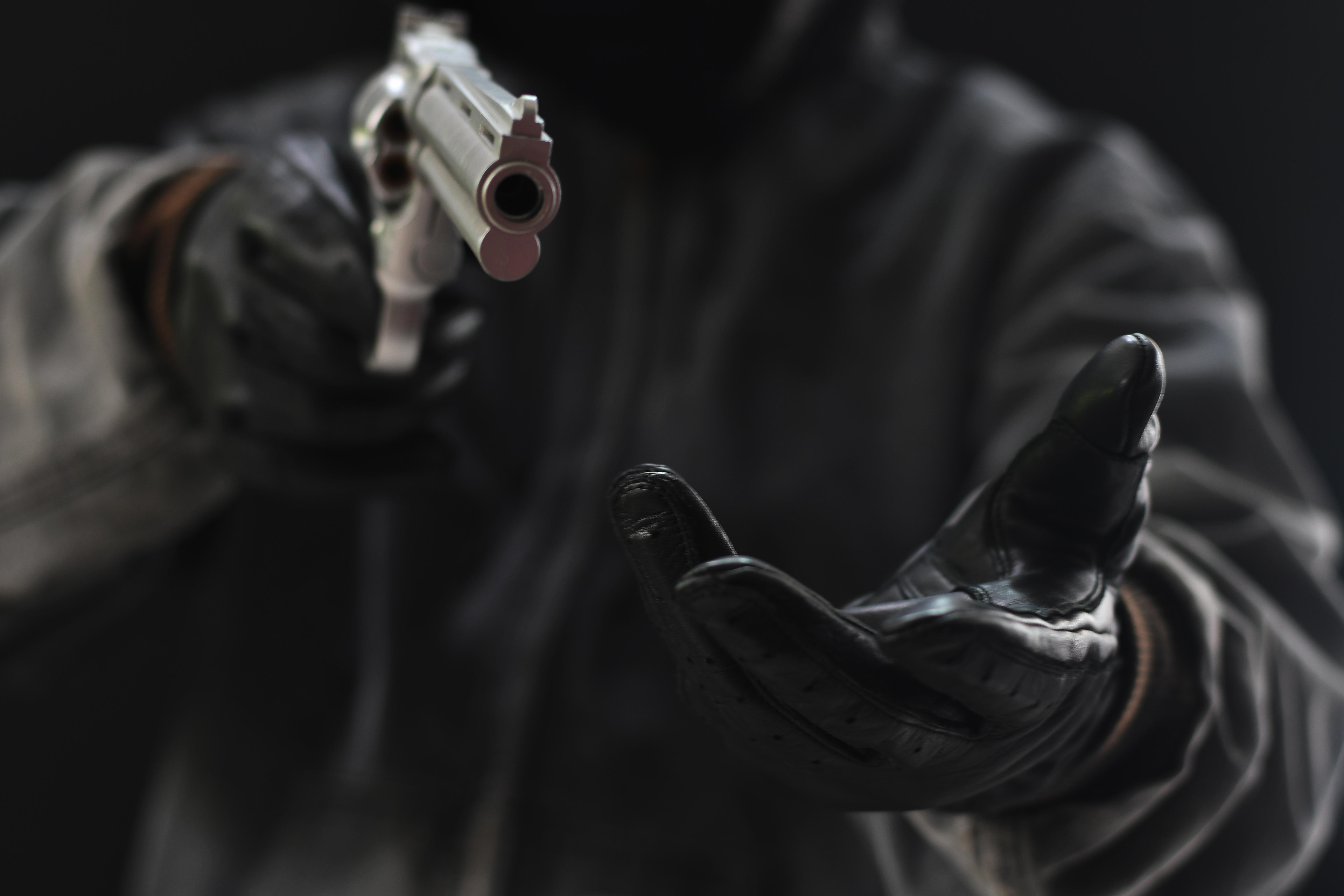 Gun Robbery. Shutterstock